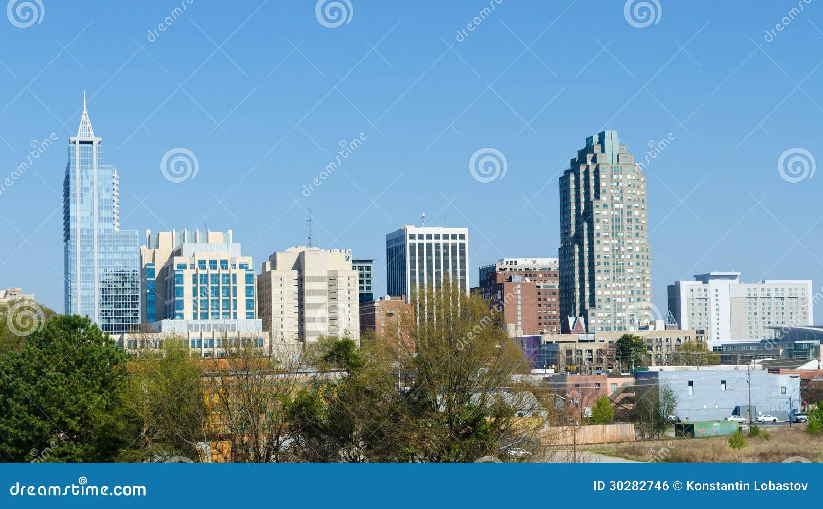 Vue sur Raleigh du centre, la Caroline du Nord. LES Etats-Unis.