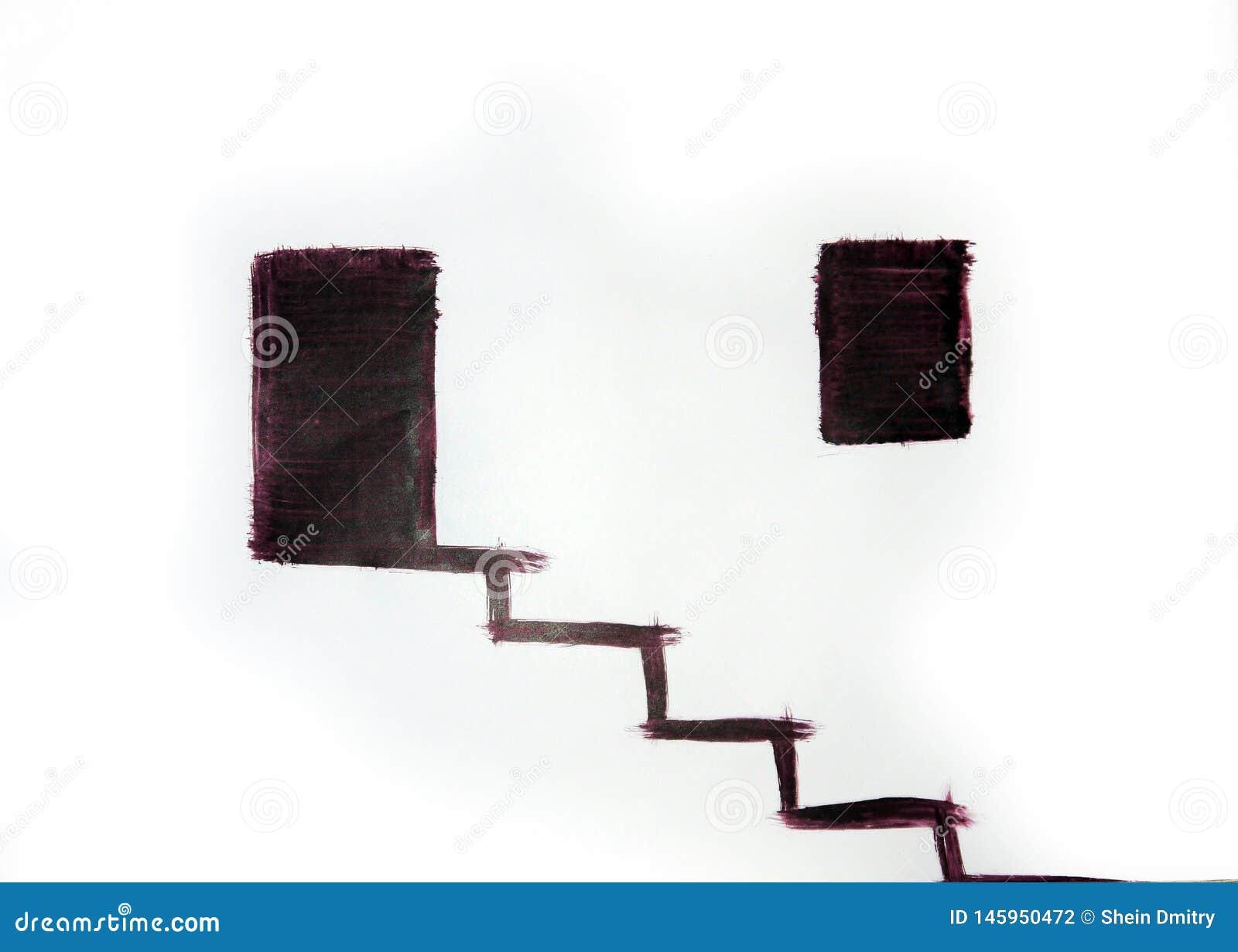 Vue urbaine d un bâtiment avec un escalier