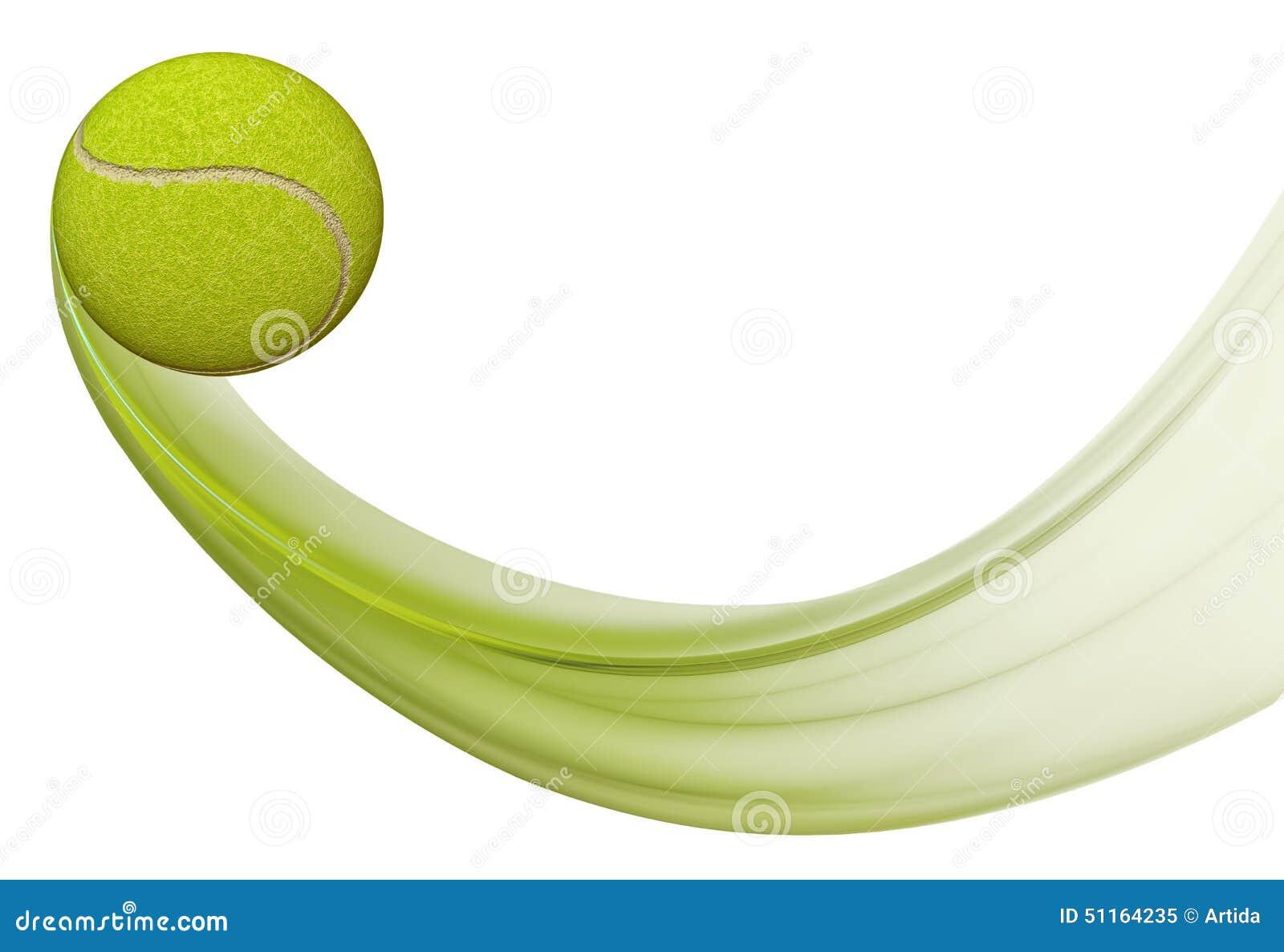 Tenis pelota stock de ilustracion ilustracion libre de stock de - Vuelo De La Pelota De Tenis Ejemplo De La Pelota De Tenis En El Movimiento