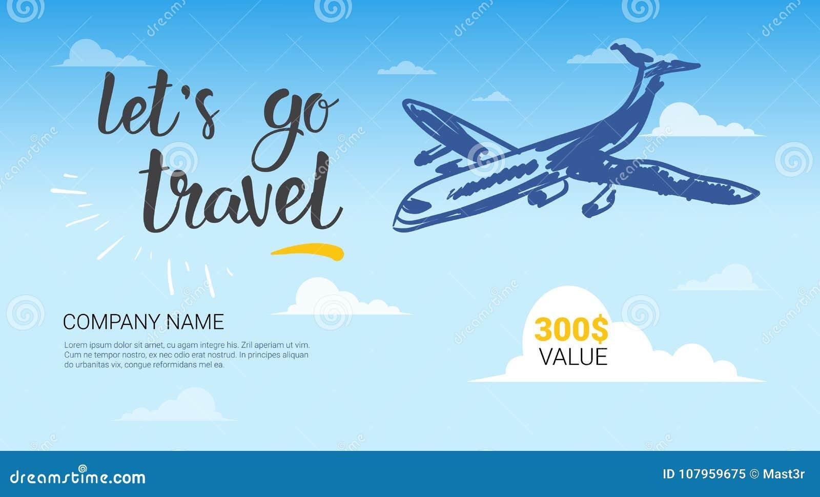 Vuelo del aeroplano de la bandera de la plantilla de la compa a del viaje en aviador de la - Banera de viaje ...