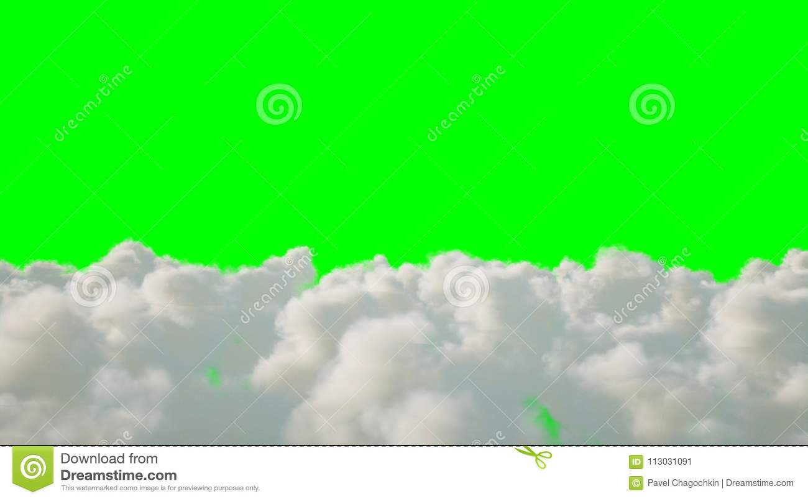 Vuelo sobre las nubes aislante representación 3d