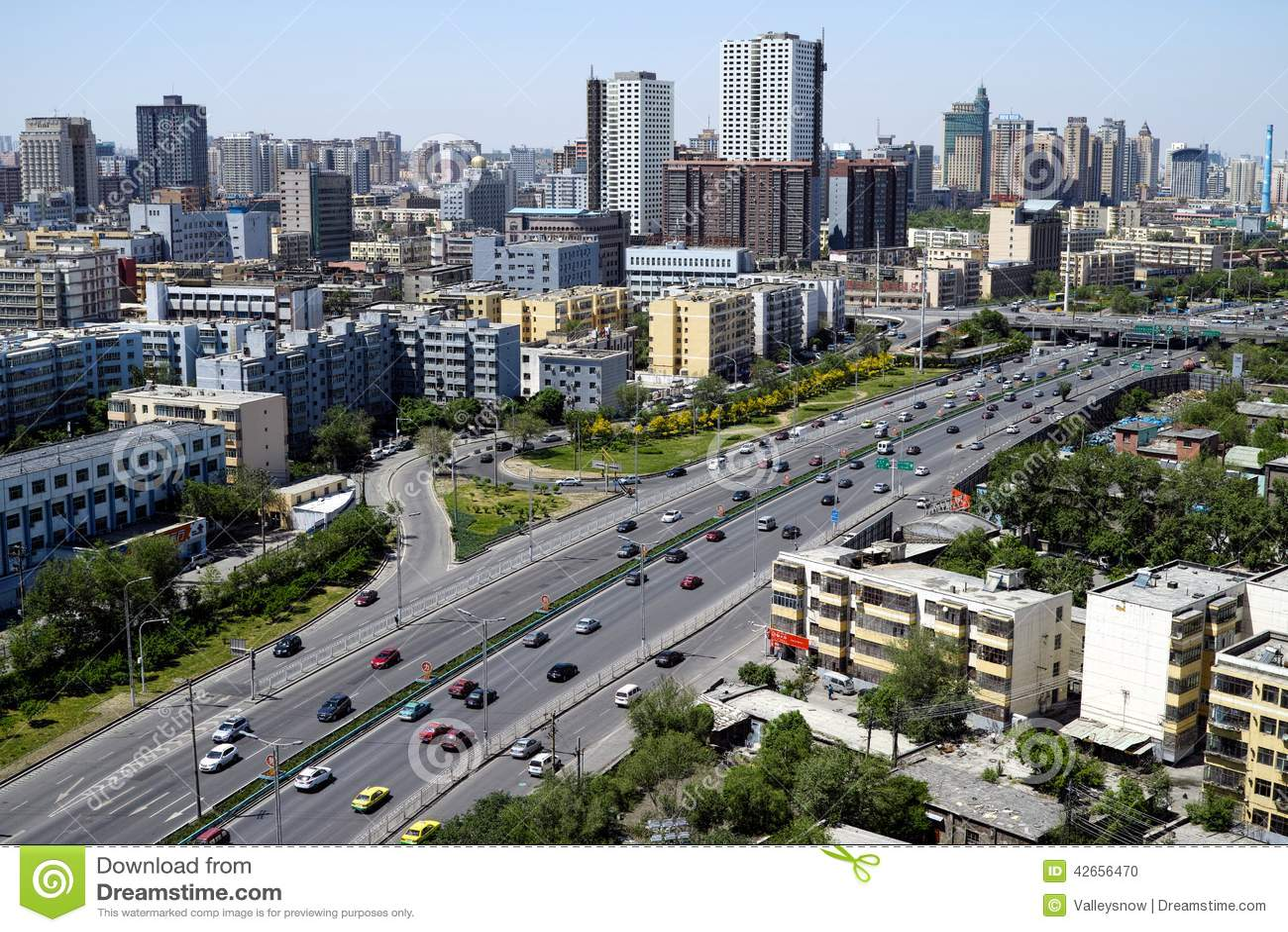 Vues de ville d'Urumqi image éditorial. Image du ange - 42656470