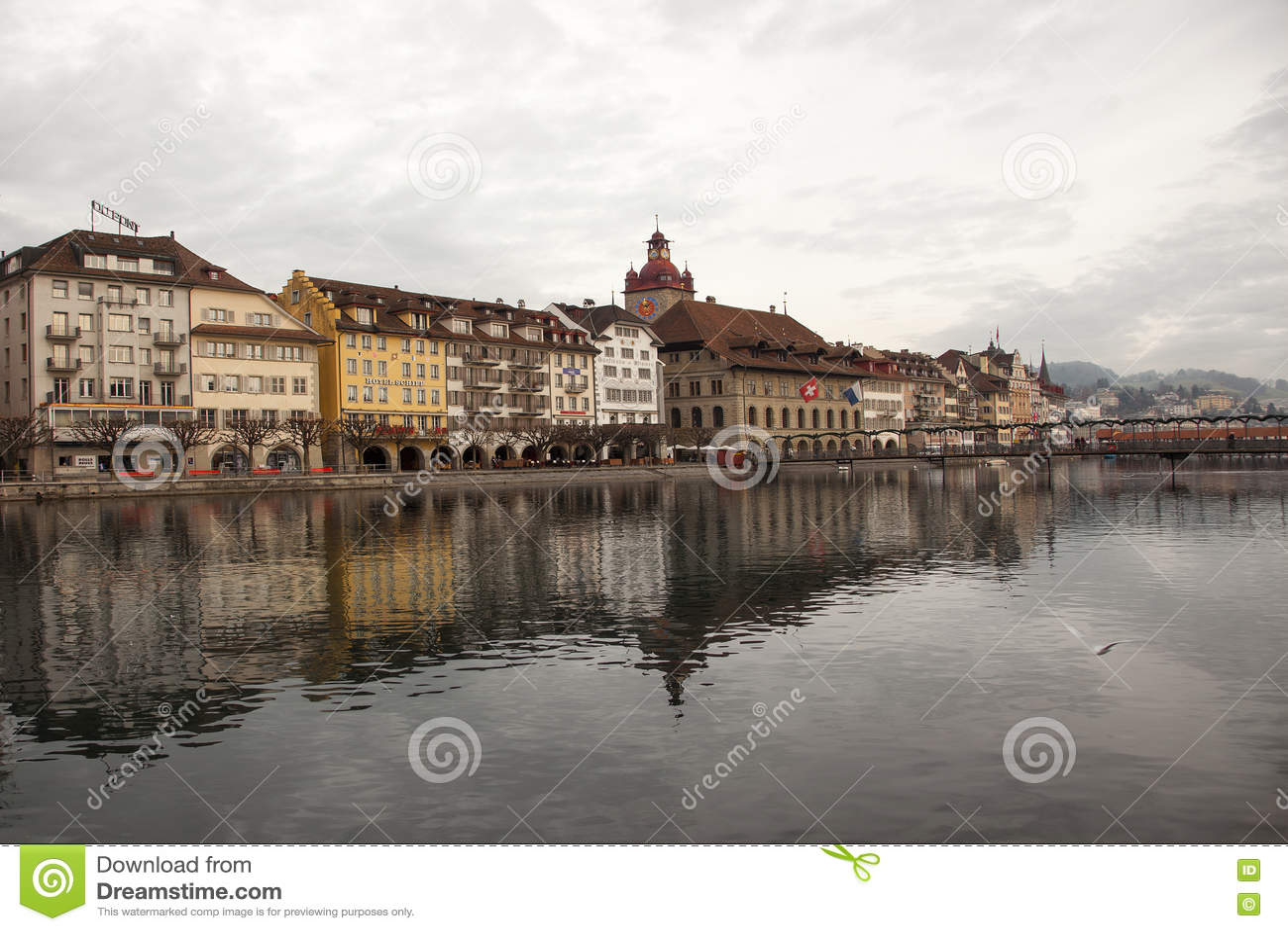 Vues de ville de Lucerne du centre (luzerne), Suisse