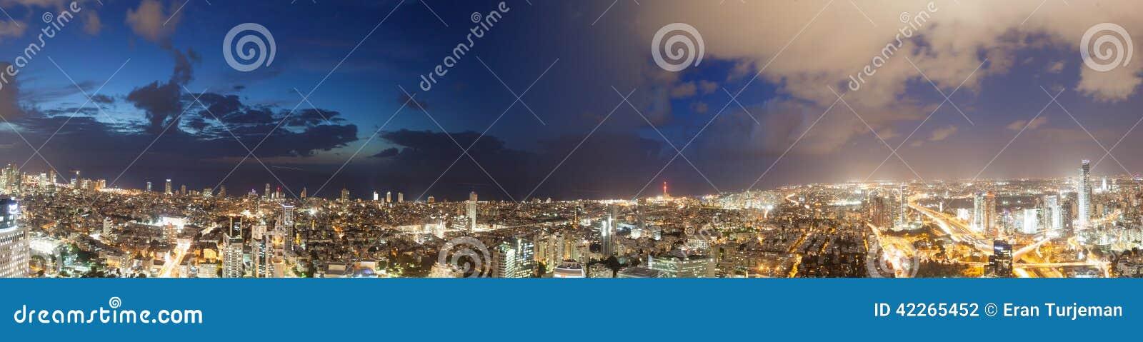 Vues des lumières de nuit de ville