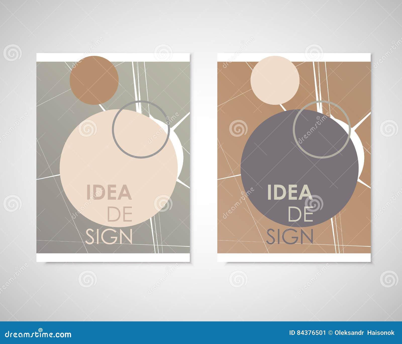 Iets Nieuws Vuile Cirkels Met Tekst Op Brochure Voor Uw Ideeën Presentatie @VV39