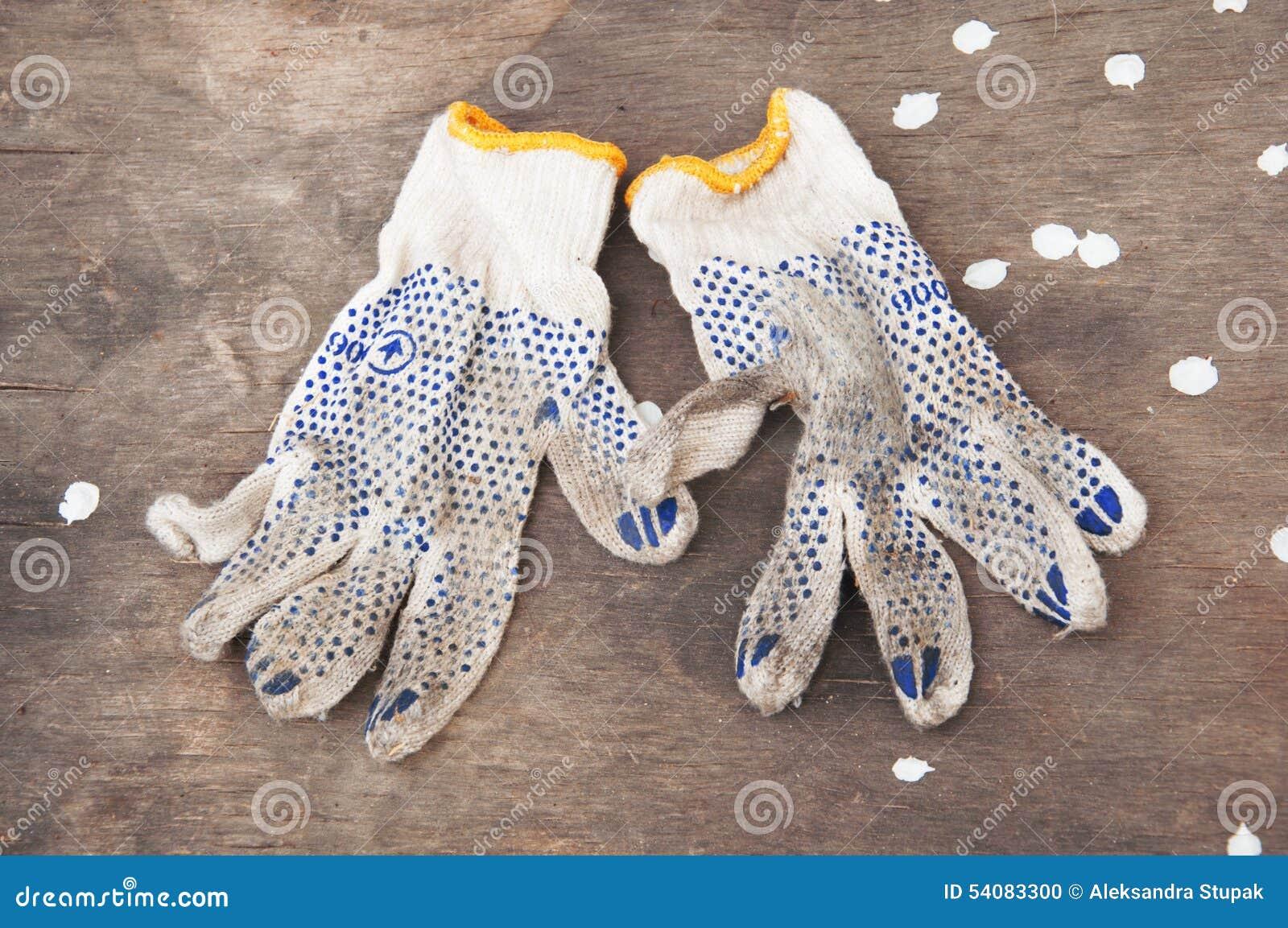 Vuile handschoenen