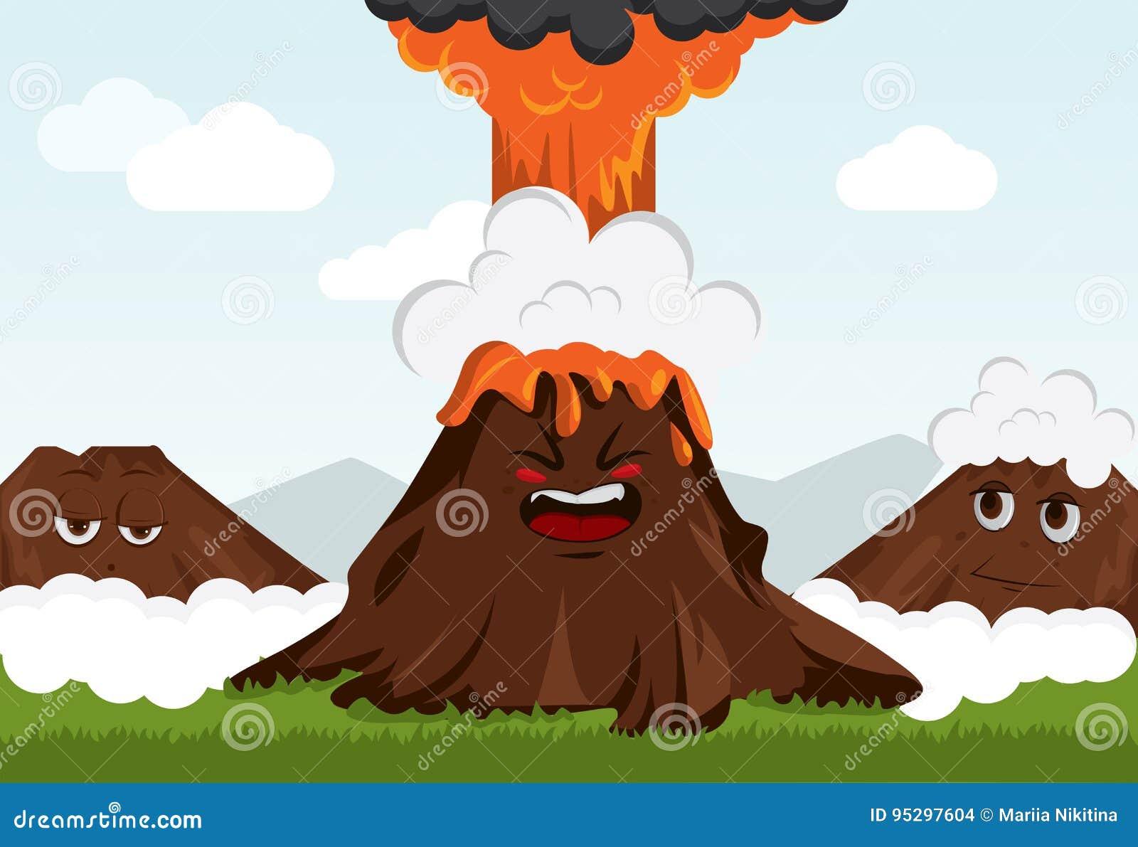 Vulcão engraçado