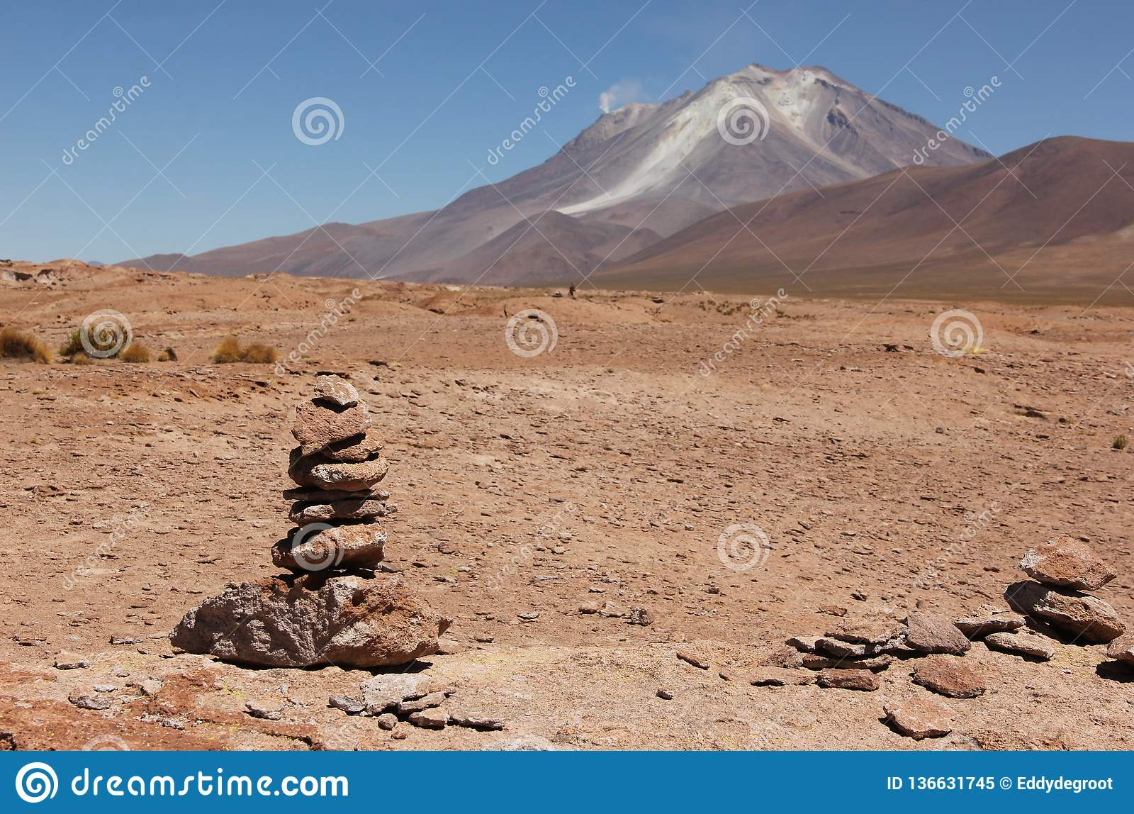 Vulcano sul boliviano Altiplano