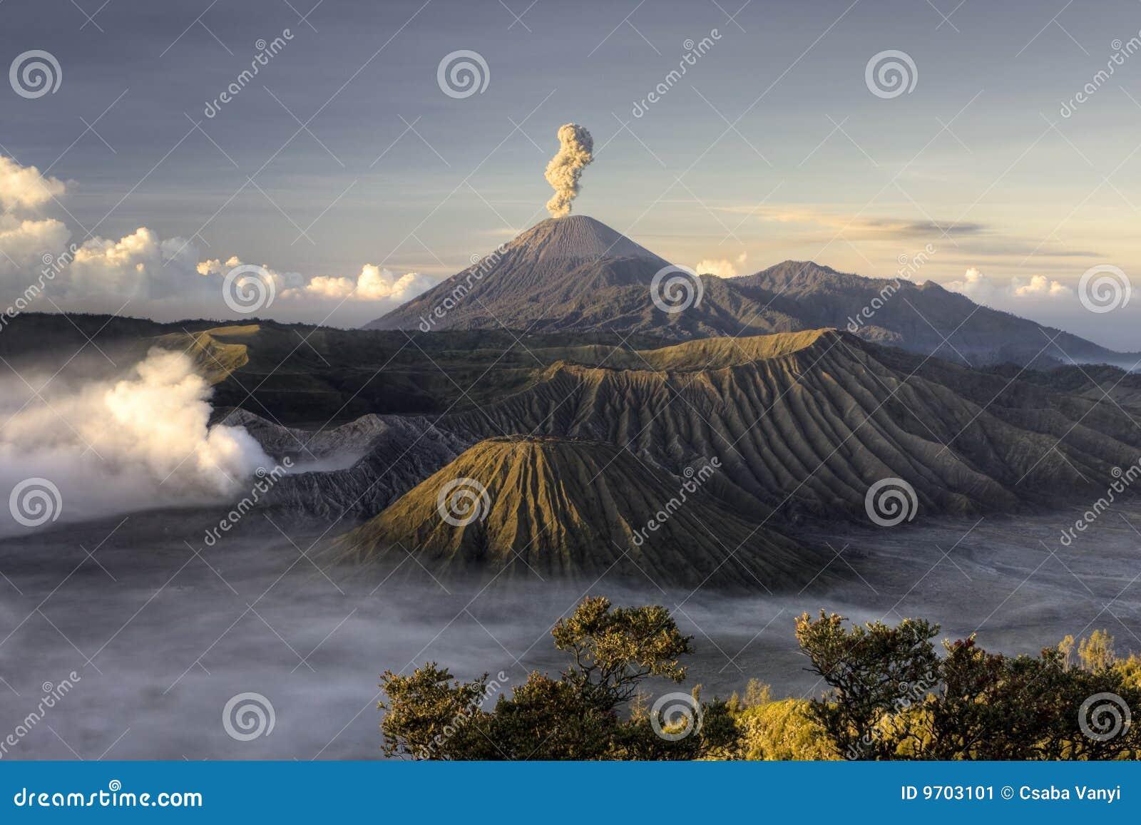 Vulkan för bromoutbrottmontering