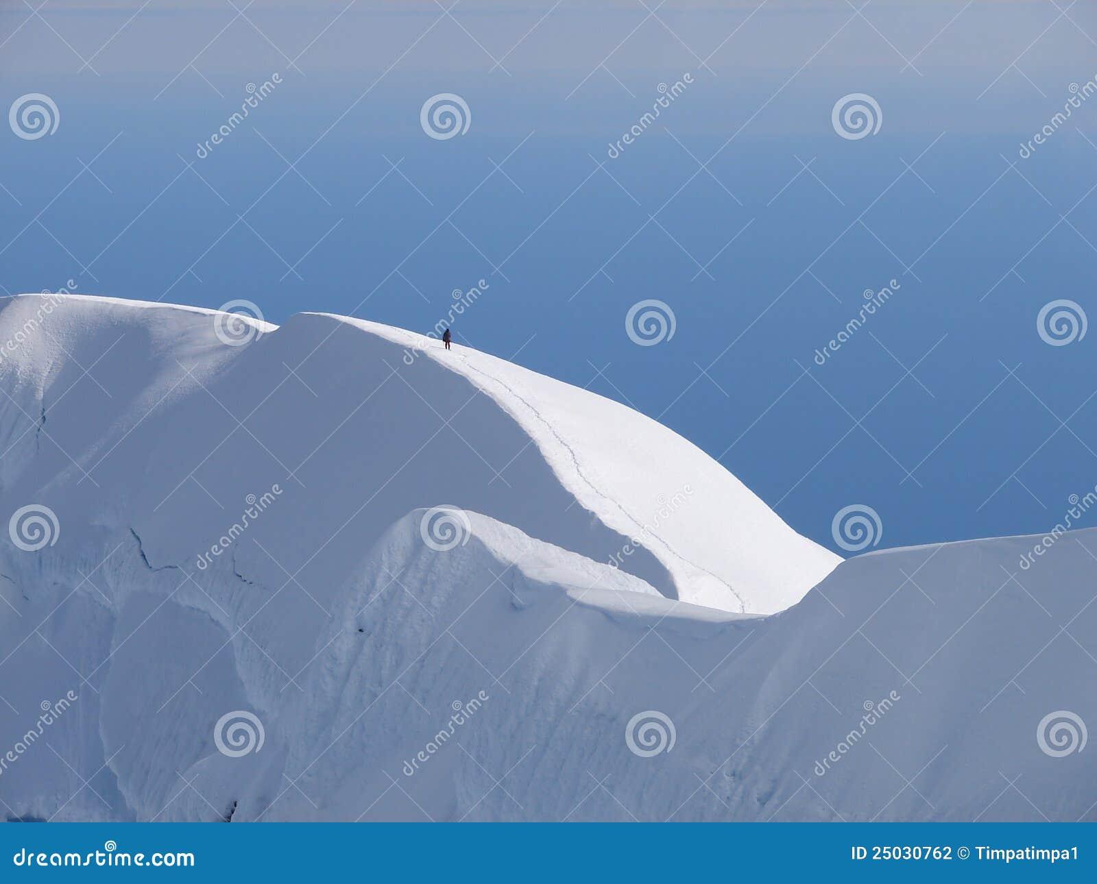 Vulkan för kant för beerenbergklättrarekrater