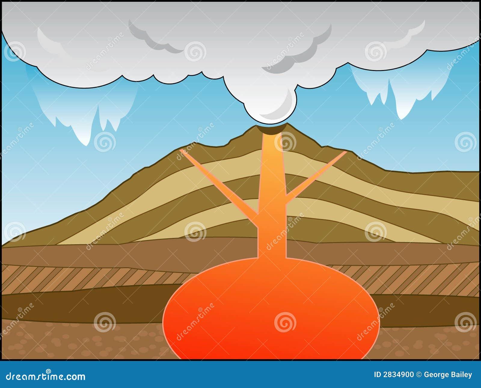 vulkan querschnitt vektor abbildung illustration von lava 2834900. Black Bedroom Furniture Sets. Home Design Ideas