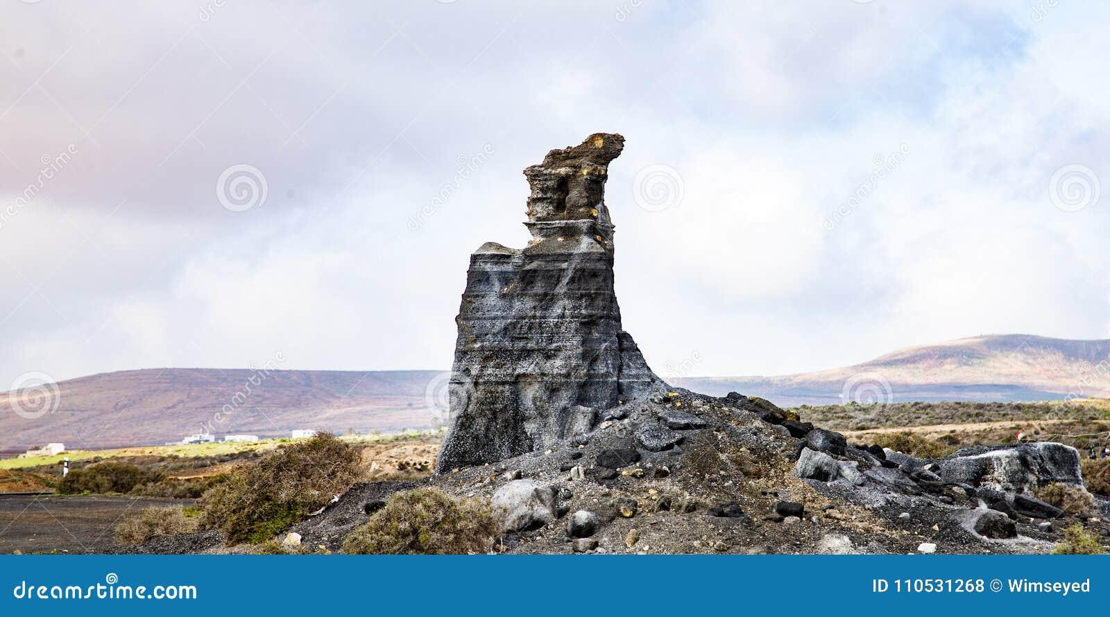 Vulkanische standbeelden op Lanzarote,