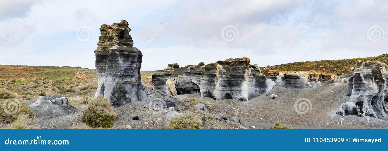 Vulkaniska statyer på Lanzarote,