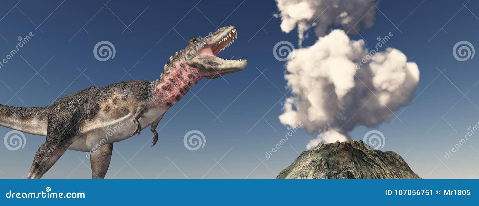 Vulkanutbrott och dinosaurien Tarbosaurus