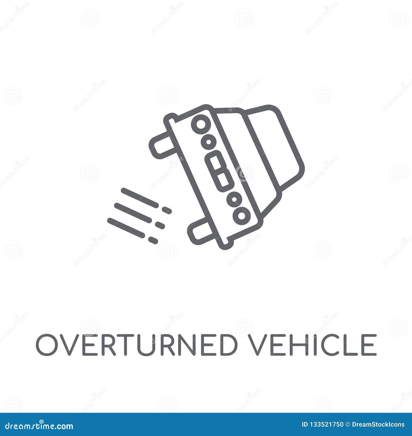 Vulten linjär symbol för medel Den moderna översikten valt vehicl