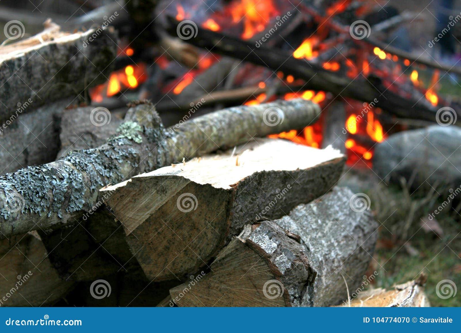 Vuur bij schemer