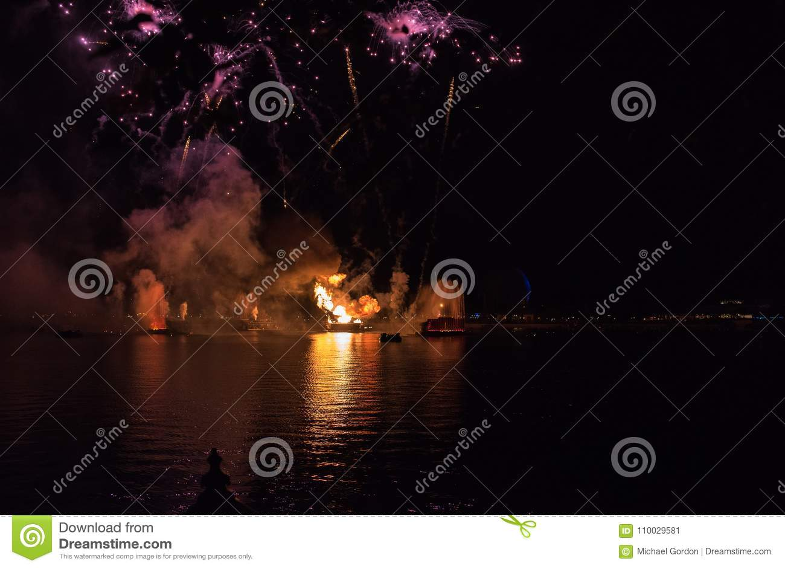 Vuurwerk in Epcot in Walt Disney World