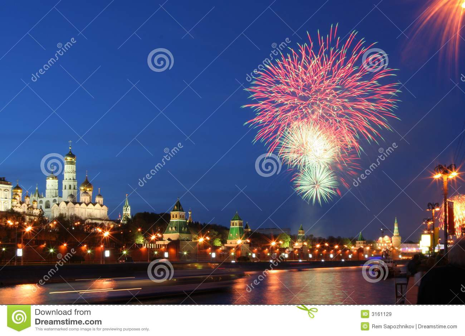 Vuurwerk over het Kremlin