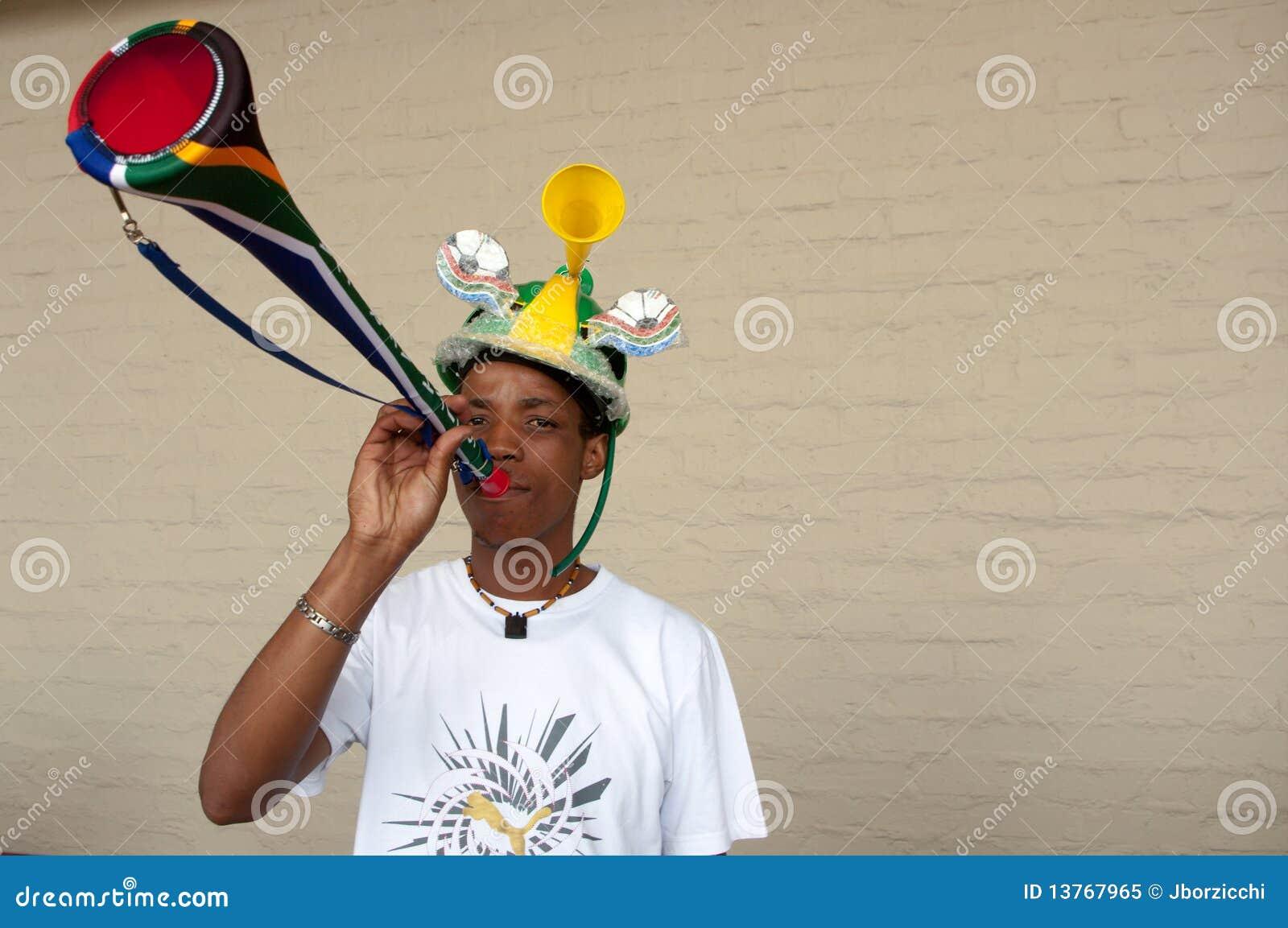 Vuvuzuela fan, South Africa