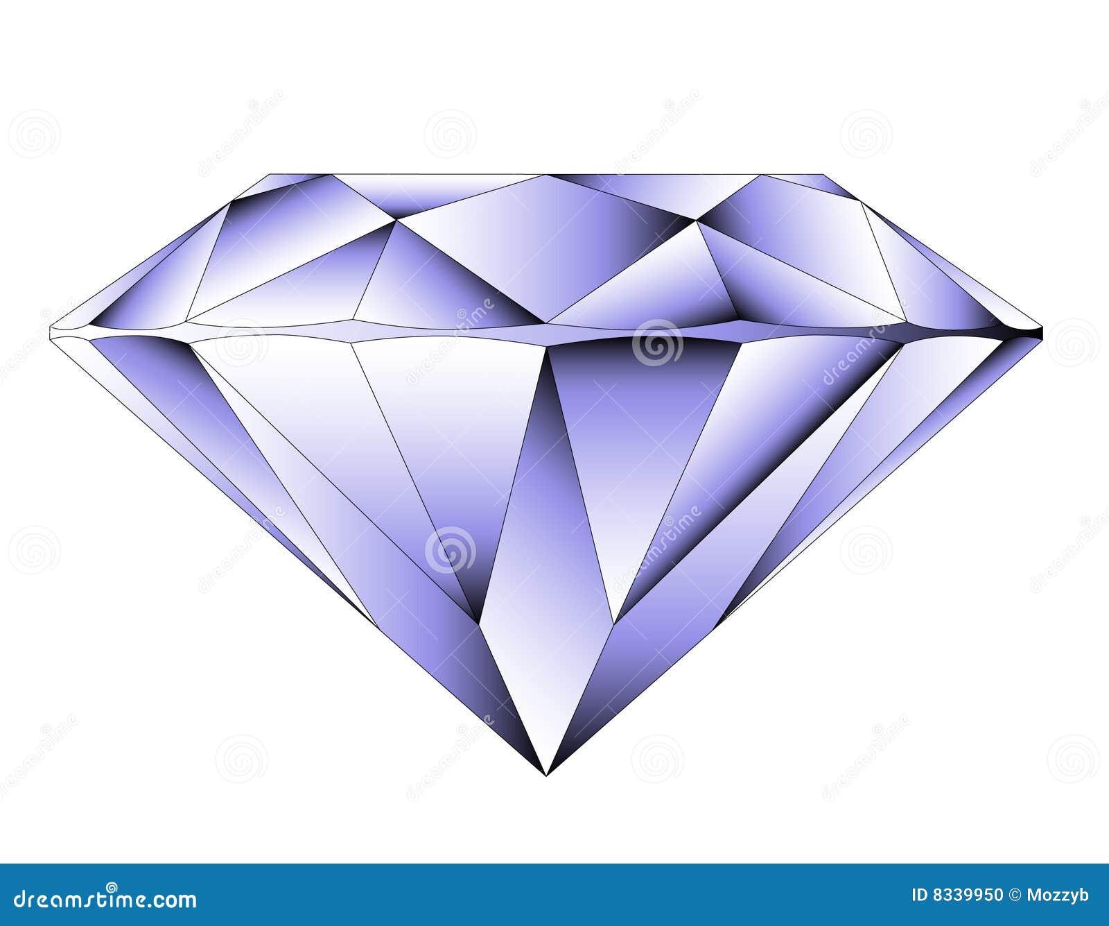 VVector Round Brilliant Cut Diamond Vector Illustration ...