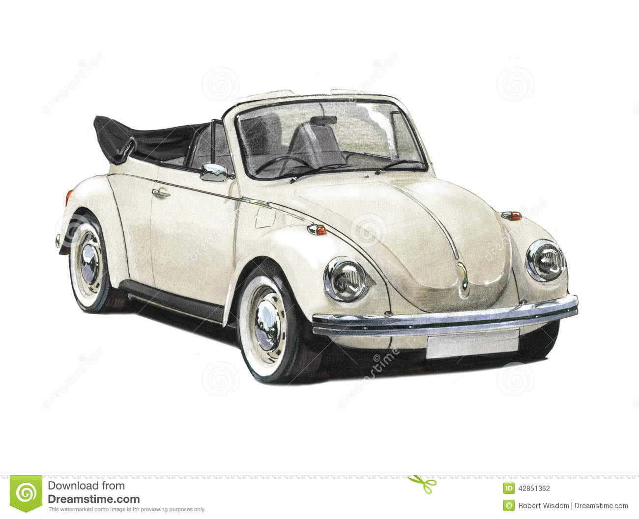 Vw Beetle Convertible 1970s Editorial Photography Image
