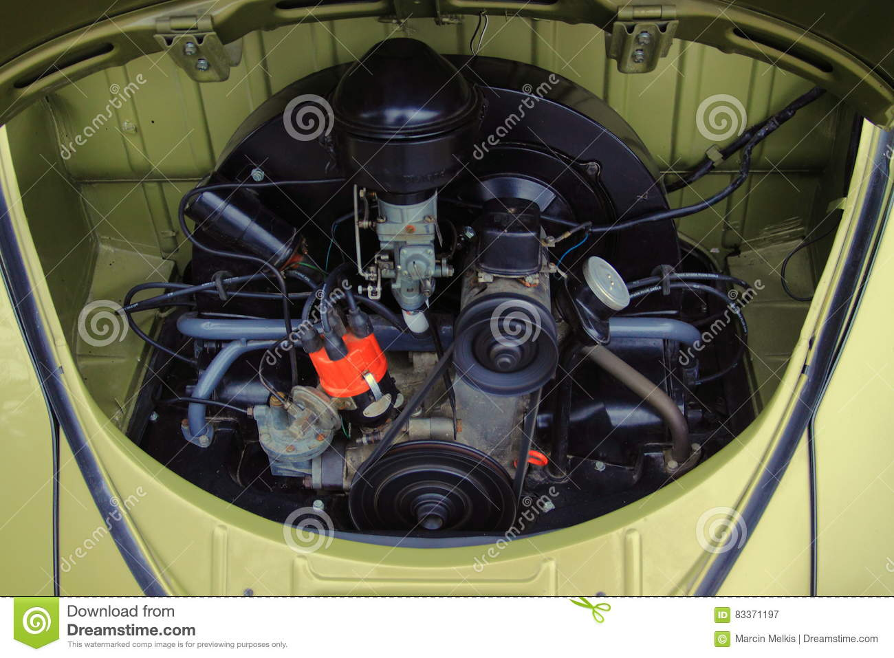 retro engine of vw convertible beetle r image volkswagen photography editorial