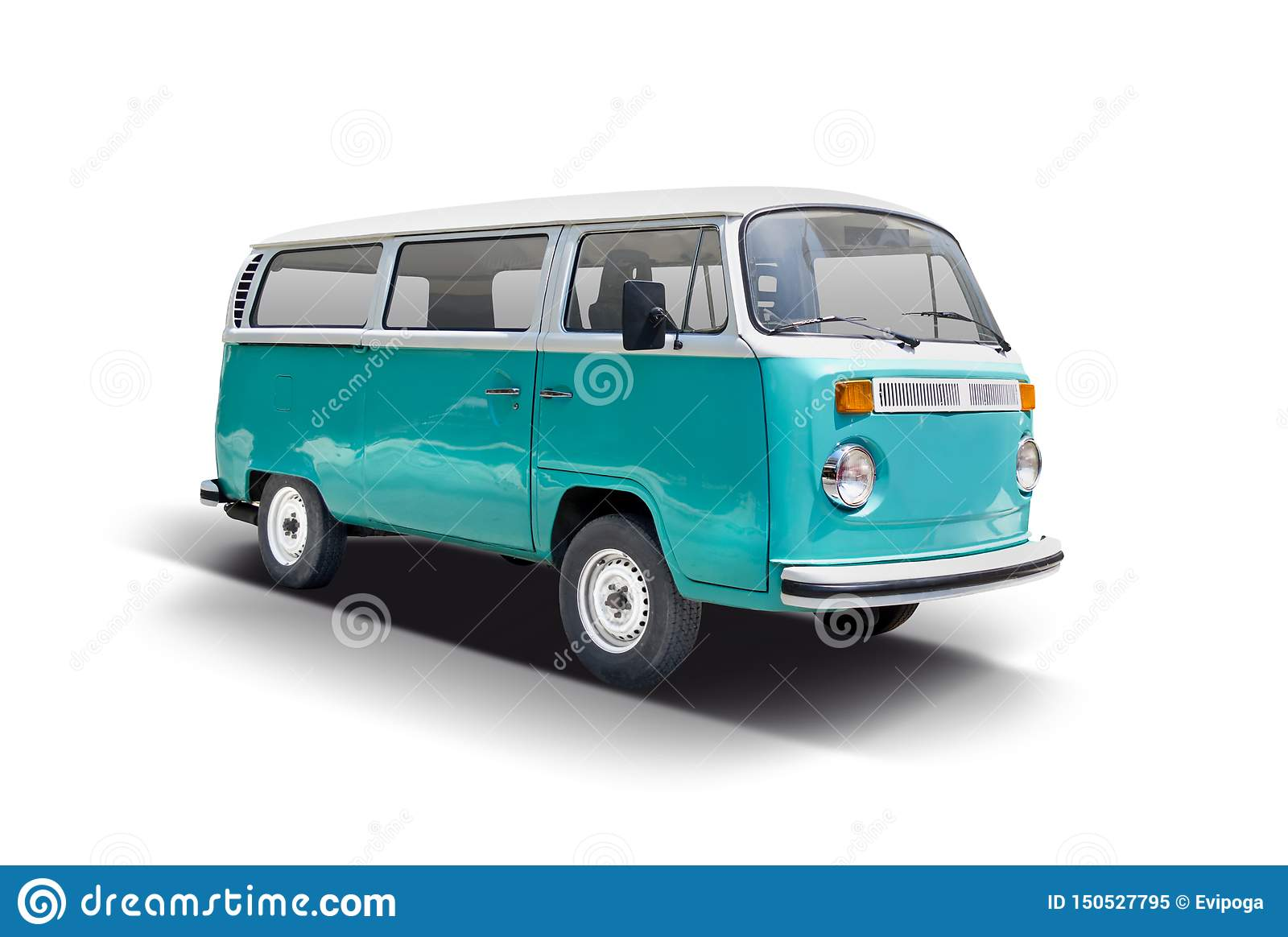 Vw Bus Van Front View Stock Image Image Of Home Isolated 150527795