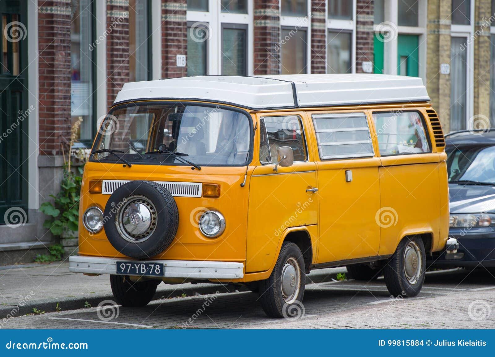 vw bus volkswagen transporter t2 campervan editorial. Black Bedroom Furniture Sets. Home Design Ideas