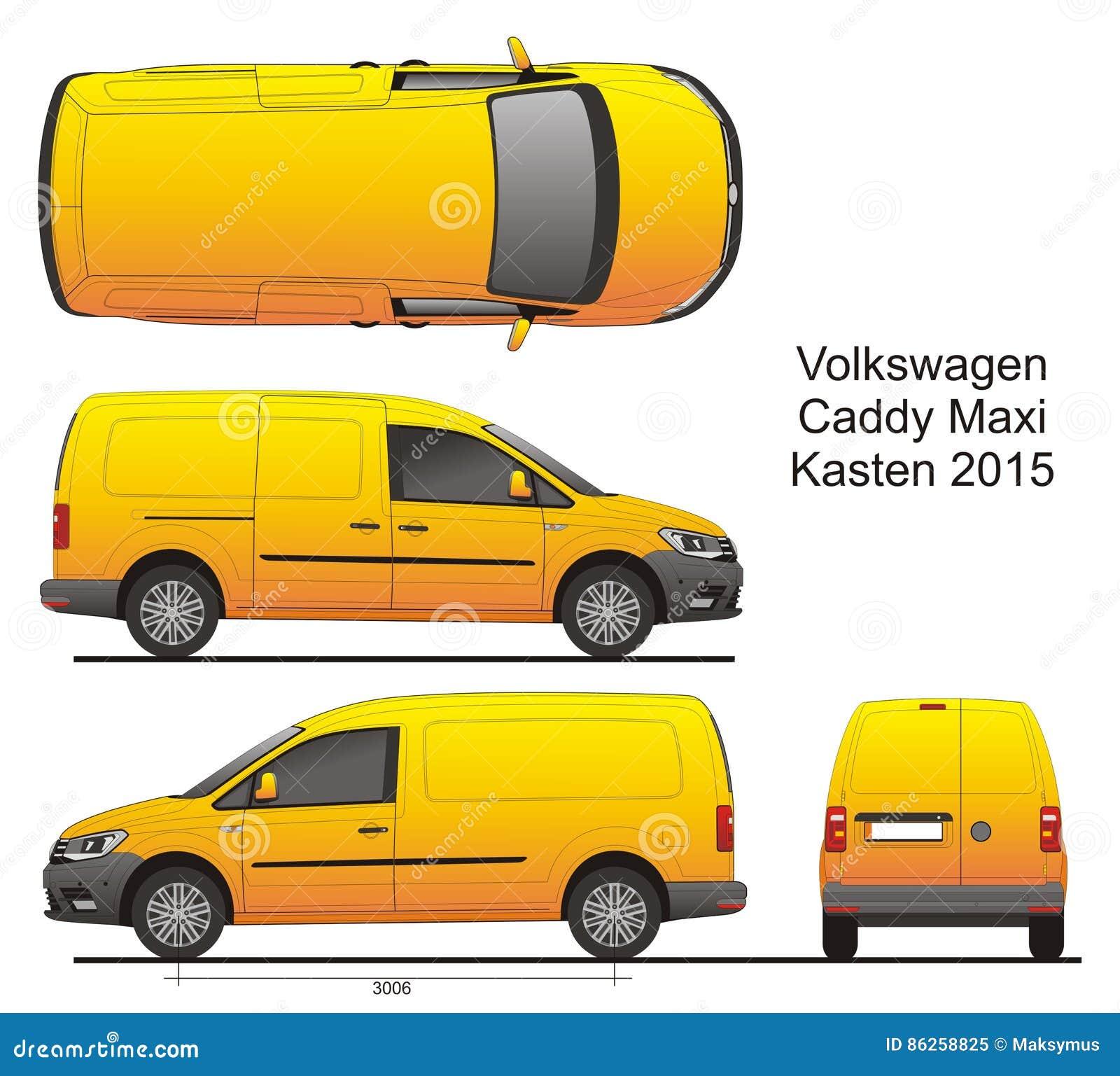 Vw Caddy Maxi Kasten 2015 Editorial Image Illustration Of