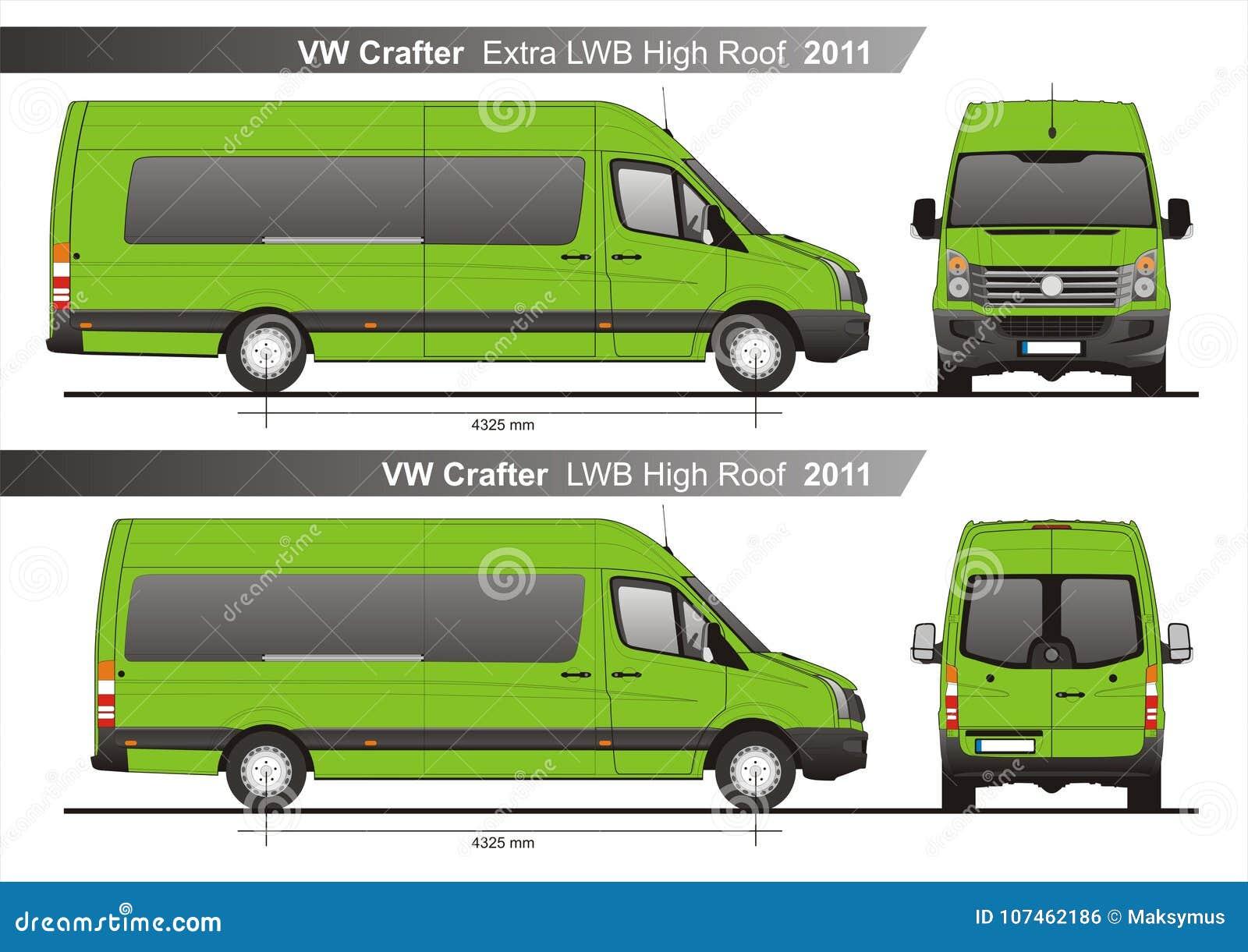 VW Crafter Plan Extra-LWB und LWB hoher Dach Autobus-2011