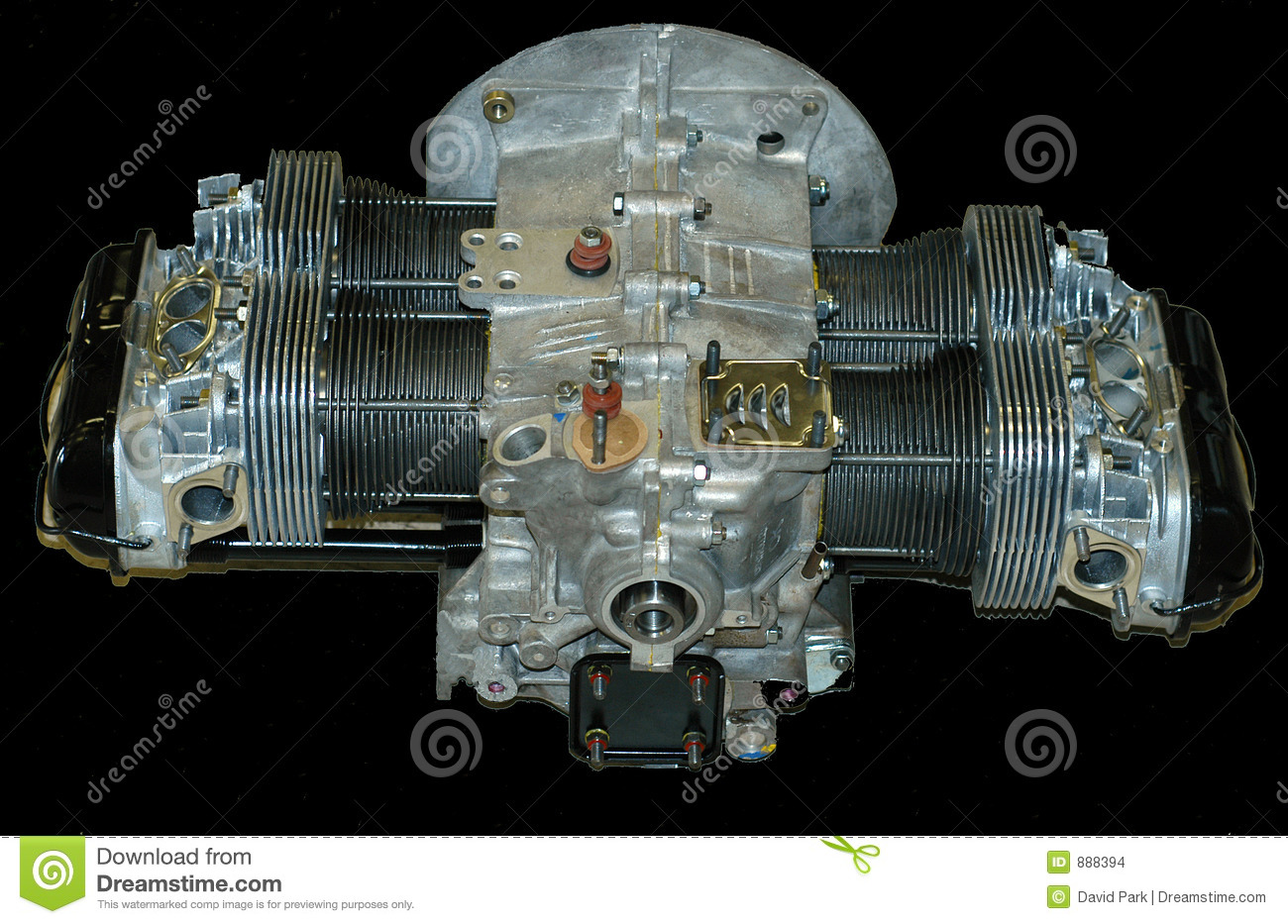 Vw Engine Motor Stock Photo Image Of Dualport Beetle