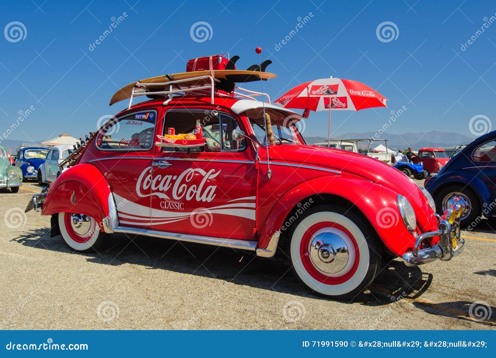 VW-Käfer-Coca-Cola-Oldtimer