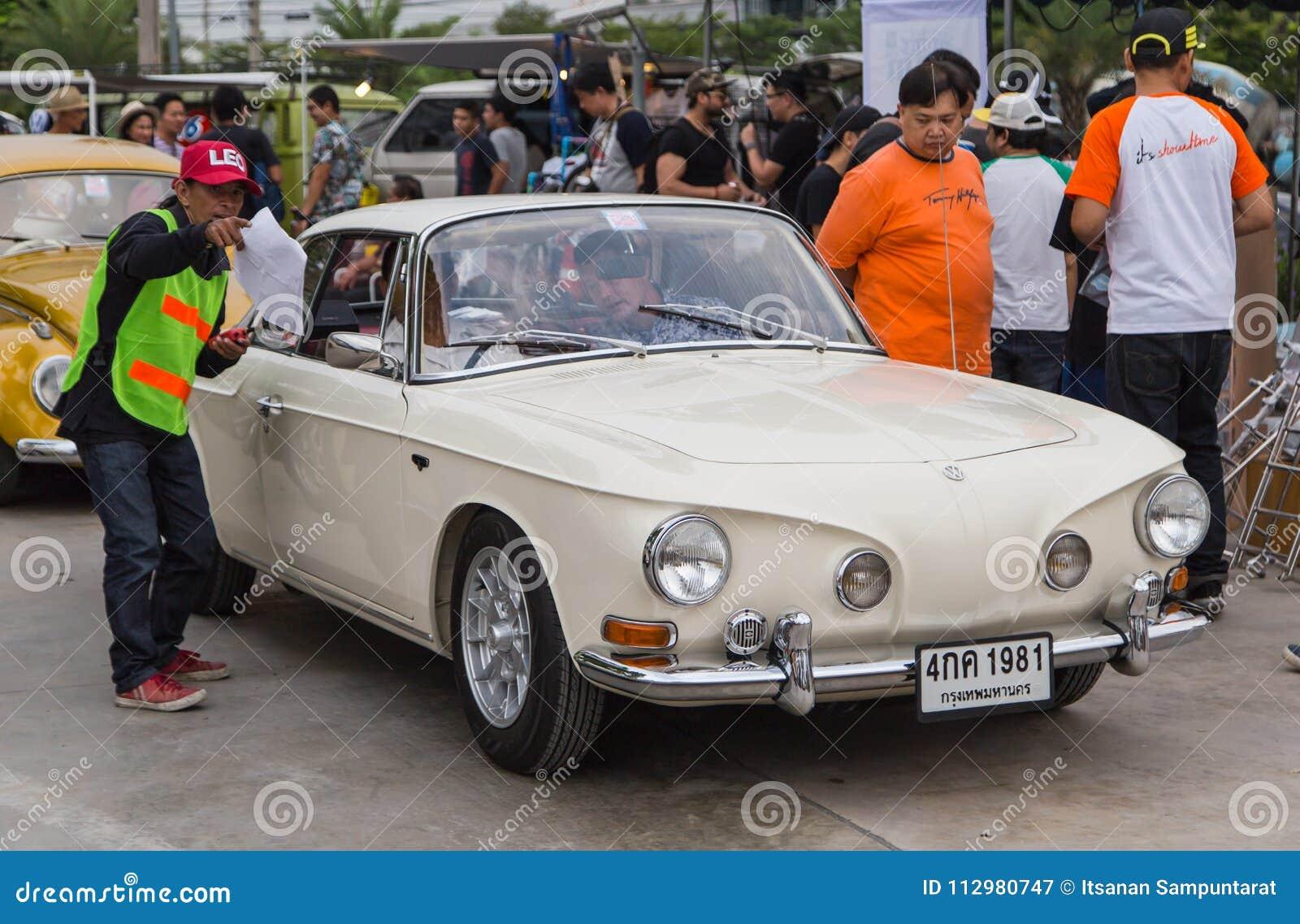 VW Karmann Ghia Type 34 join VW club meeting