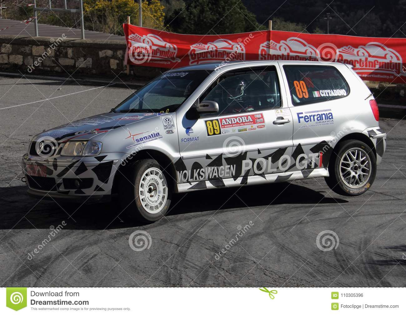 A Vw Polo Gti Race Car Involved In The Race Editorial Photo Image