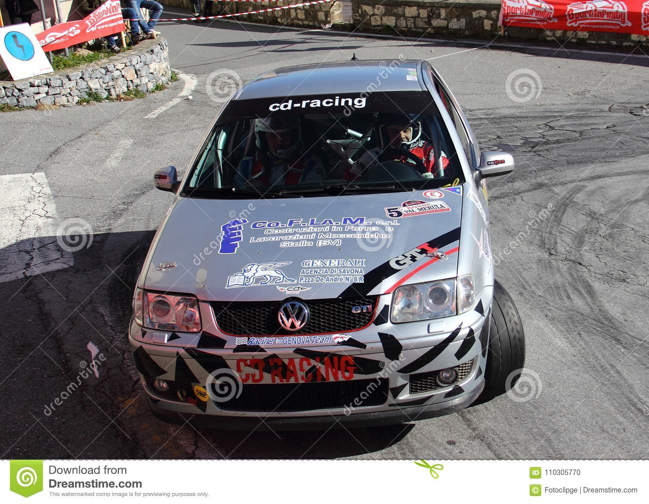 A Vw Polo Gti Race Car Involved In The Race Editorial Image Image