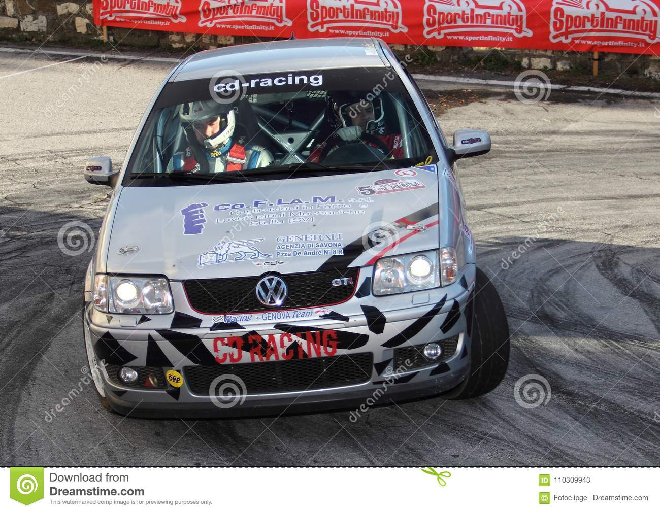 A Vw Polo Gti Race Car Involved In The Race Editorial Stock Photo