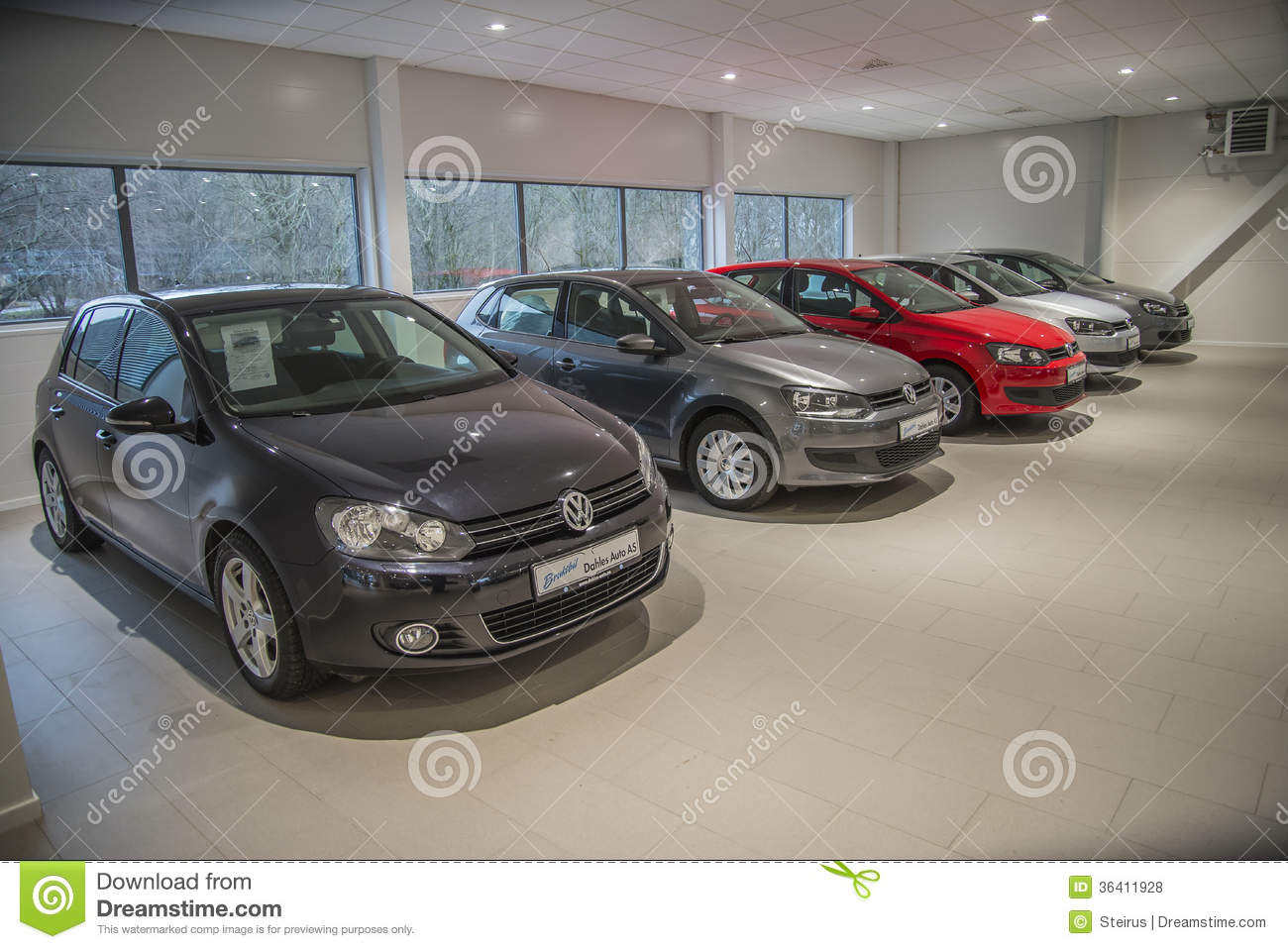 VW used cars for sale editorial stock photo. Image of show - 36411928