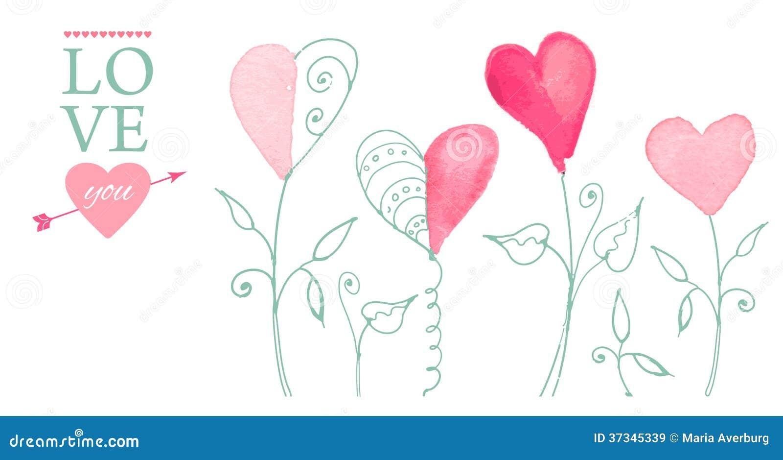 Vykort för valentin dag