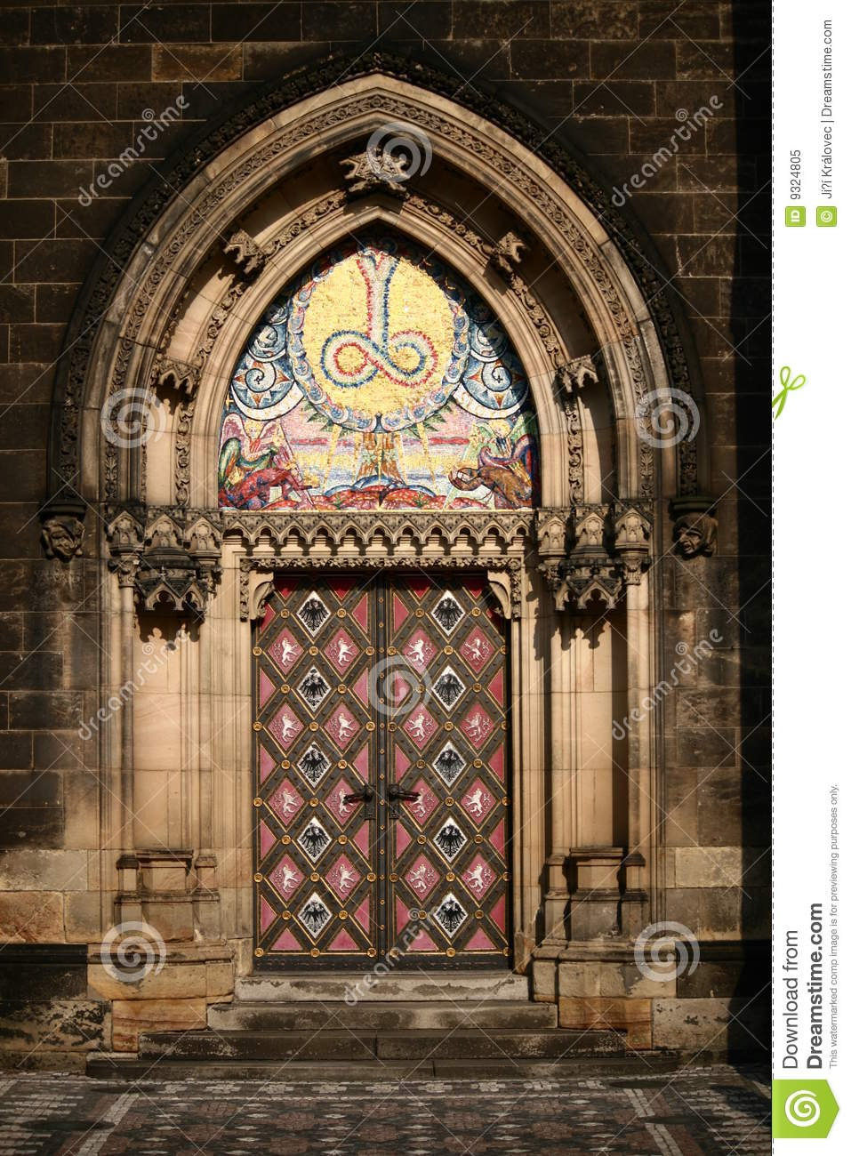 The vysehrad cathedrale door royalty free stock photo for Door z prague