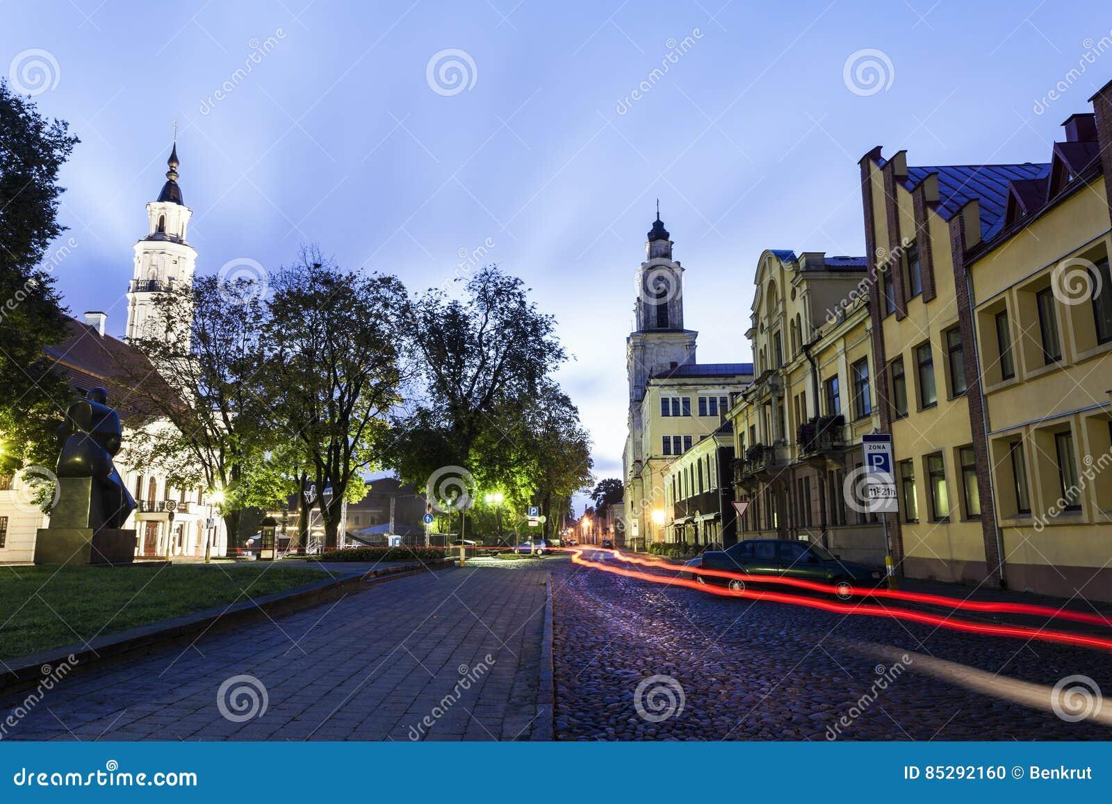 Vytautas ` Wielki kościół i urząd miasta Kaunas, Lithuania