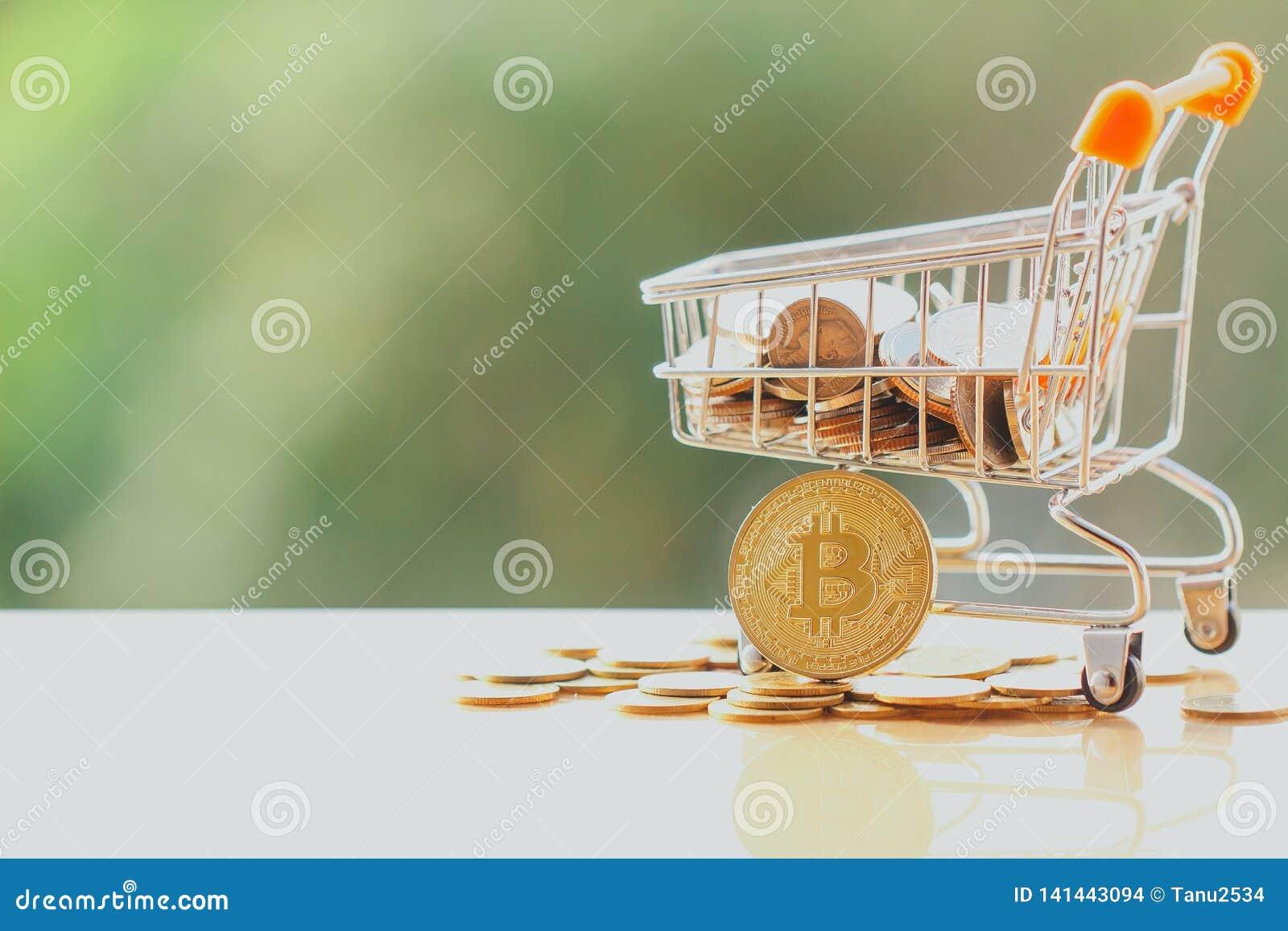 Wózek na zakupy i bitcoin