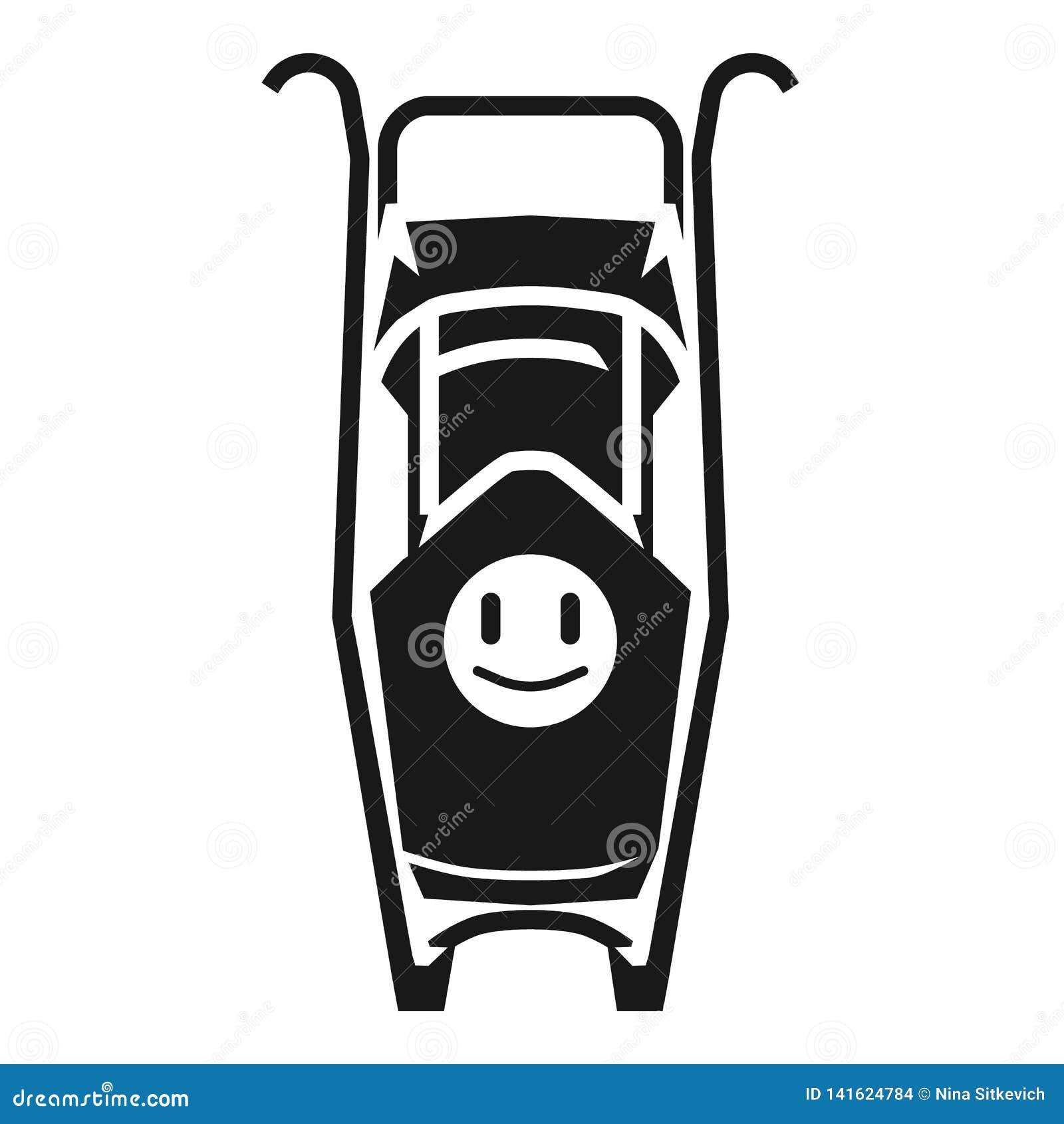 Wózek spacerowy z uśmiech ikoną, prosty styl
