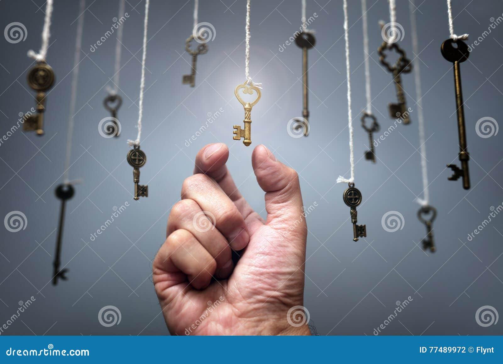Wählen des Schlüssels zum Erfolg