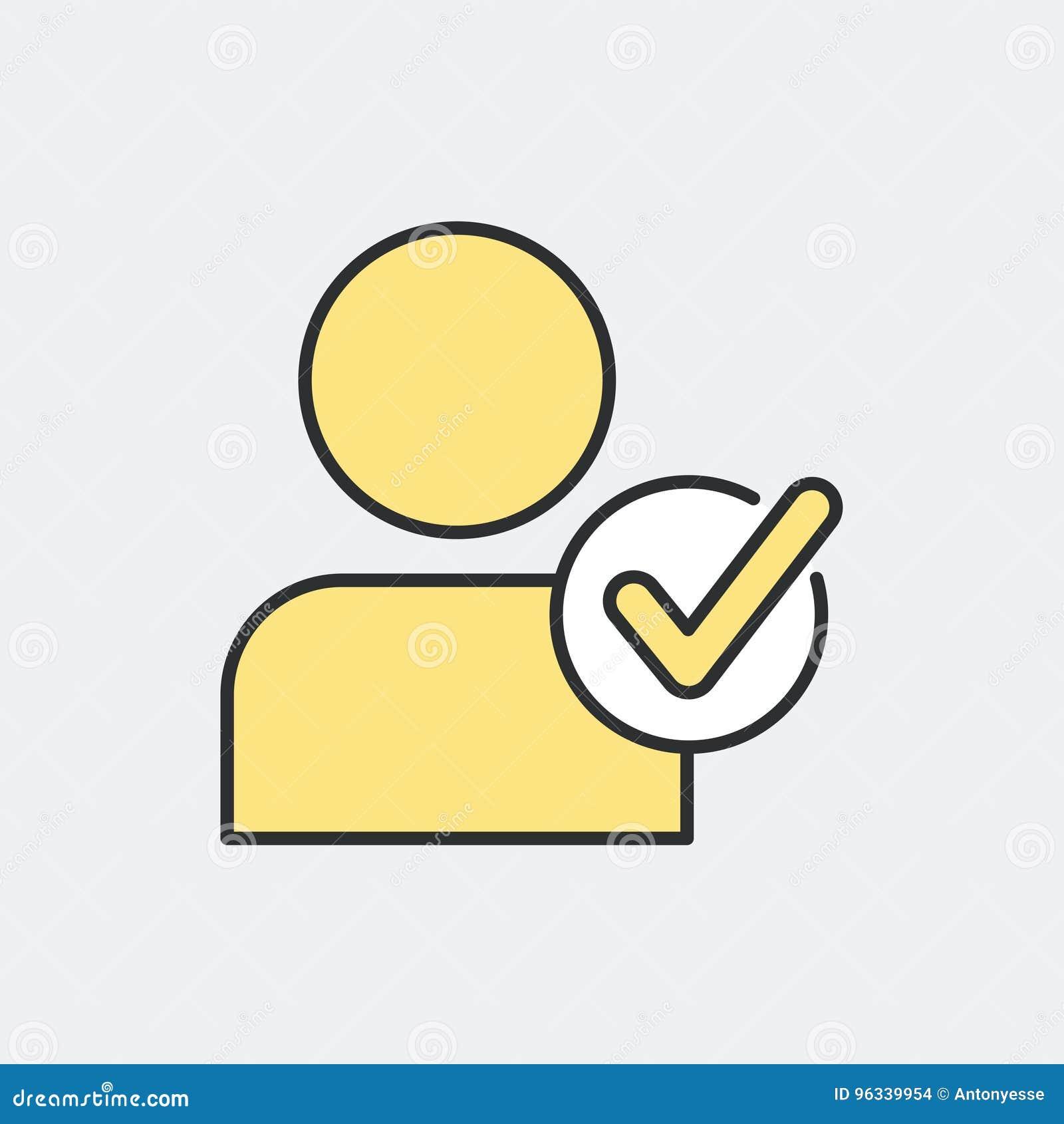 Wählen Sie Personensymbolkonzept
