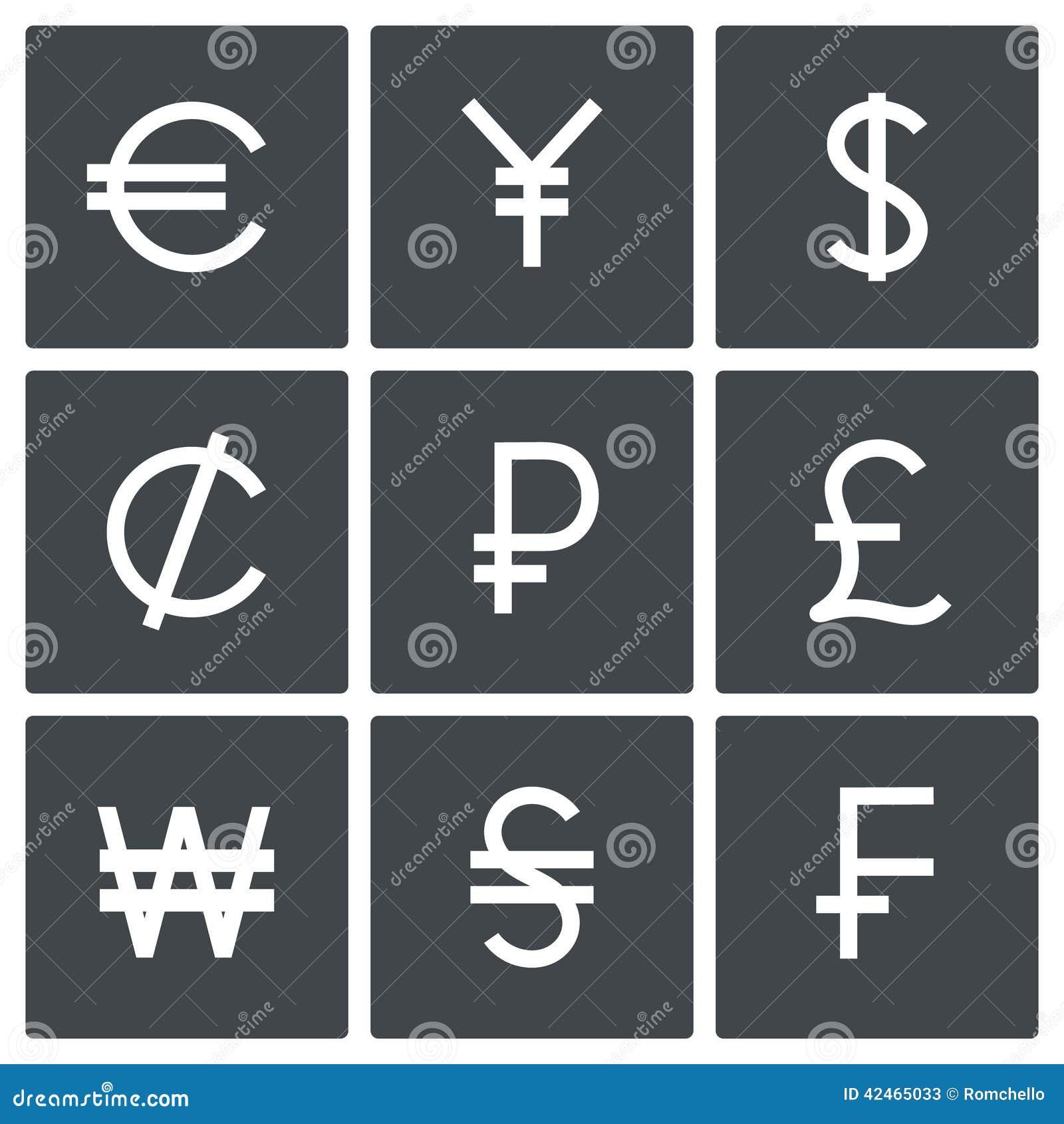 Währungsikonensatz