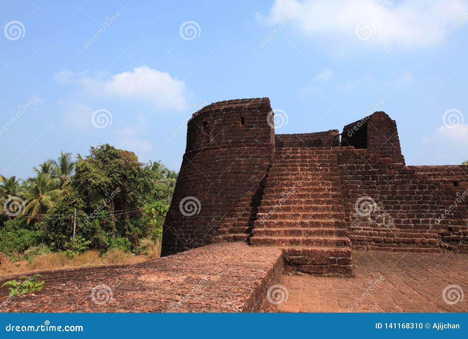 Wände von Bekal-Fort