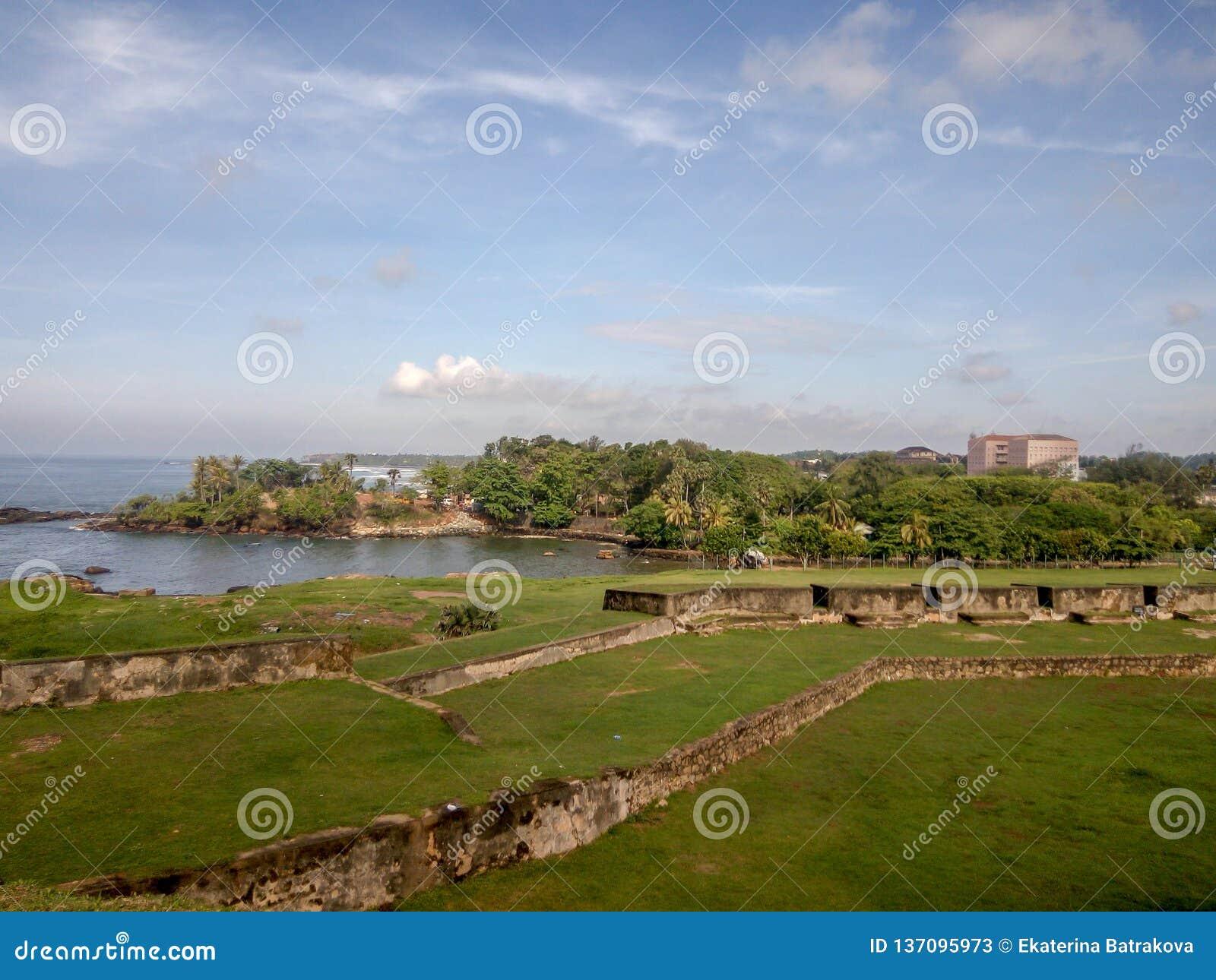 Wände von Galle-Fort, Sri Lanka