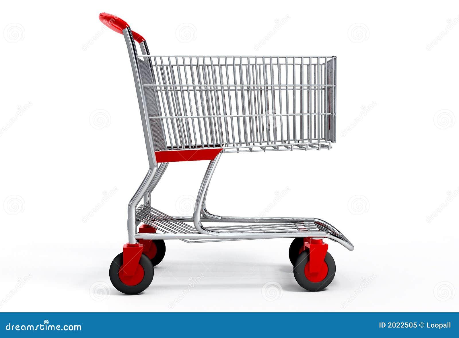 Wózek ścinku ścieżki zakupy