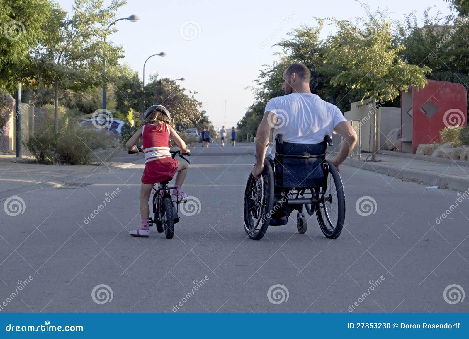 Wózek inwalidzki bicykl