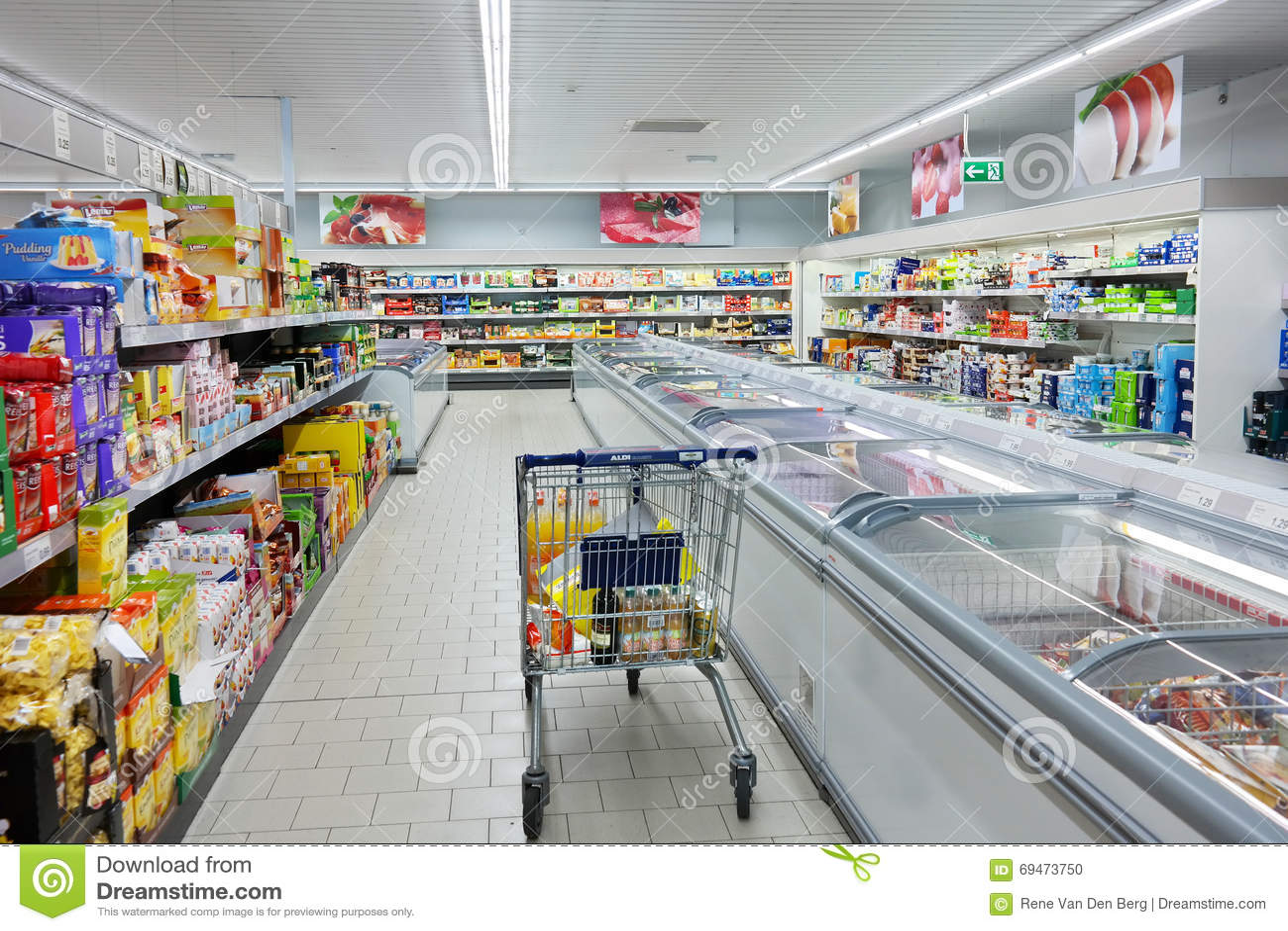 Wózek Na Zakupy w ALDI supermarkecie